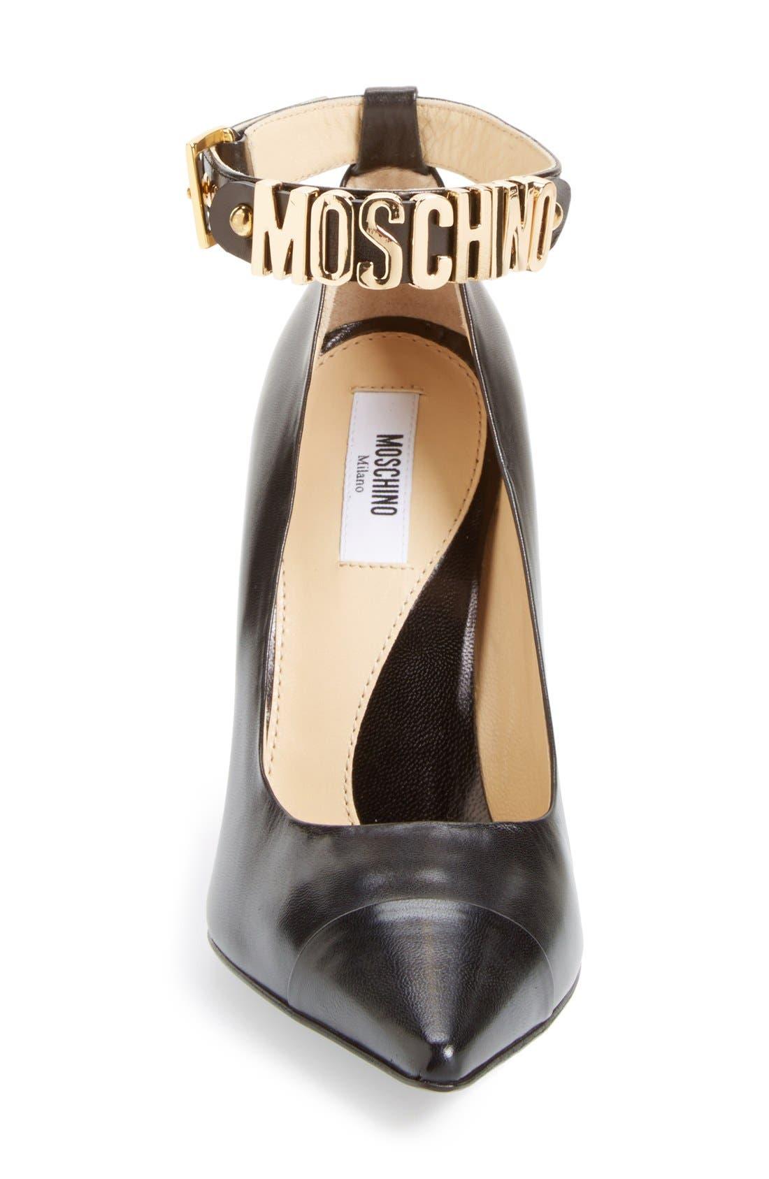 Alternate Image 3  - Moschino Logo Ankle Strap Pump (Women)