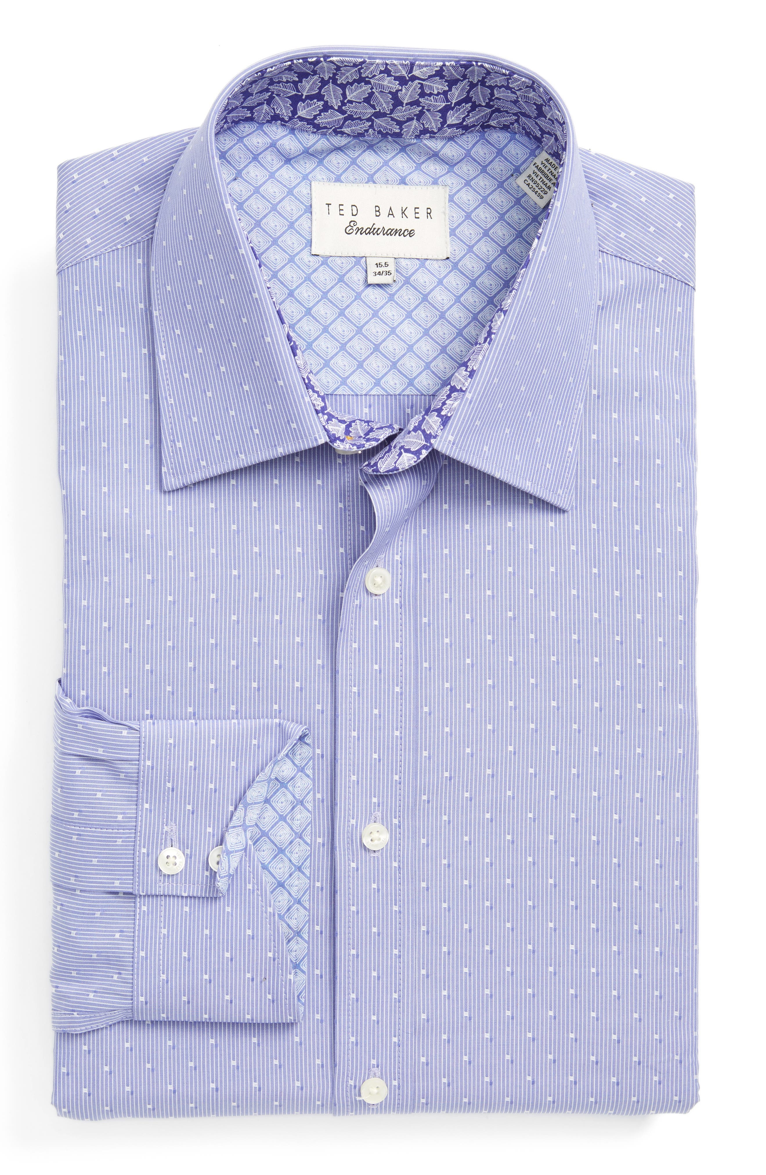 Ted Baker London Steam Trim Fit Stripe Dress Shirt
