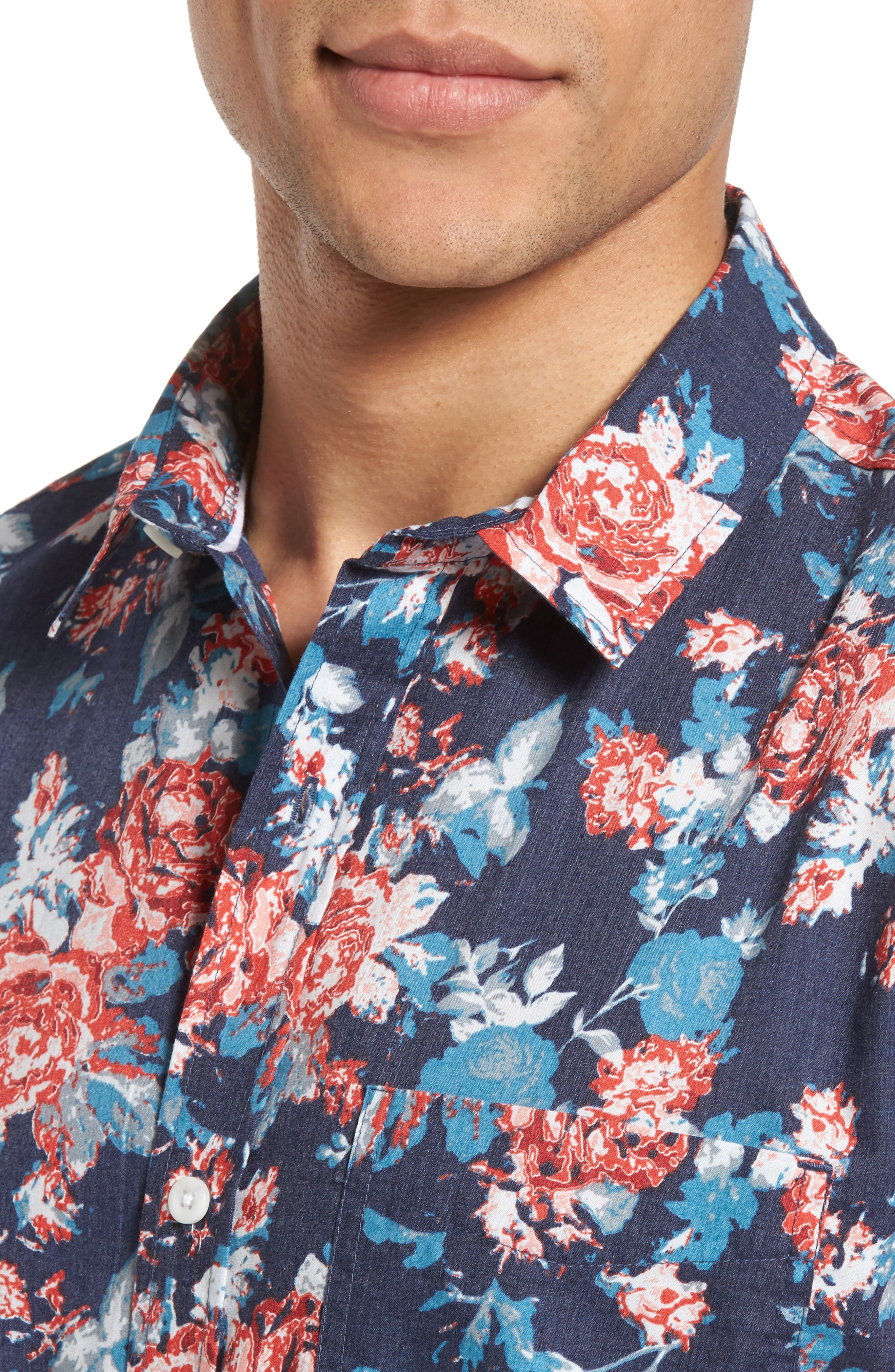 Alternate Image 4  - 1901 Wallpaper Floral Print Shirt