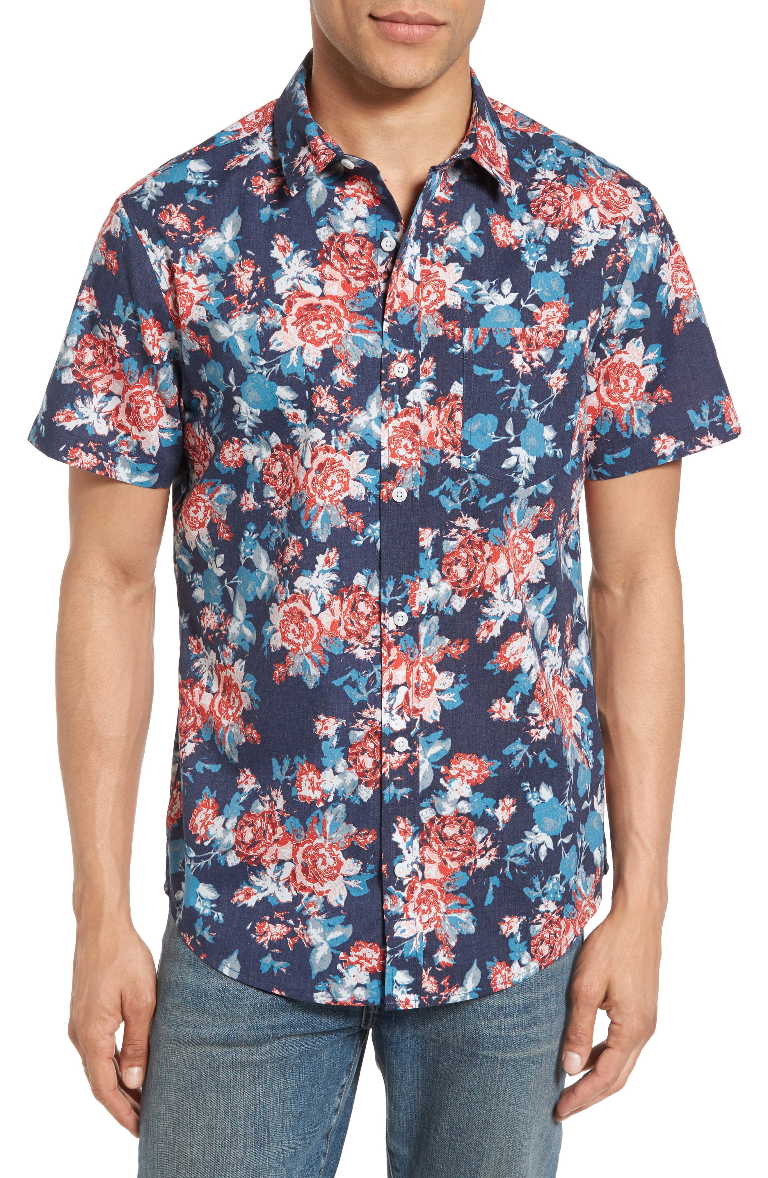 Main Image - 1901 Wallpaper Floral Print Shirt