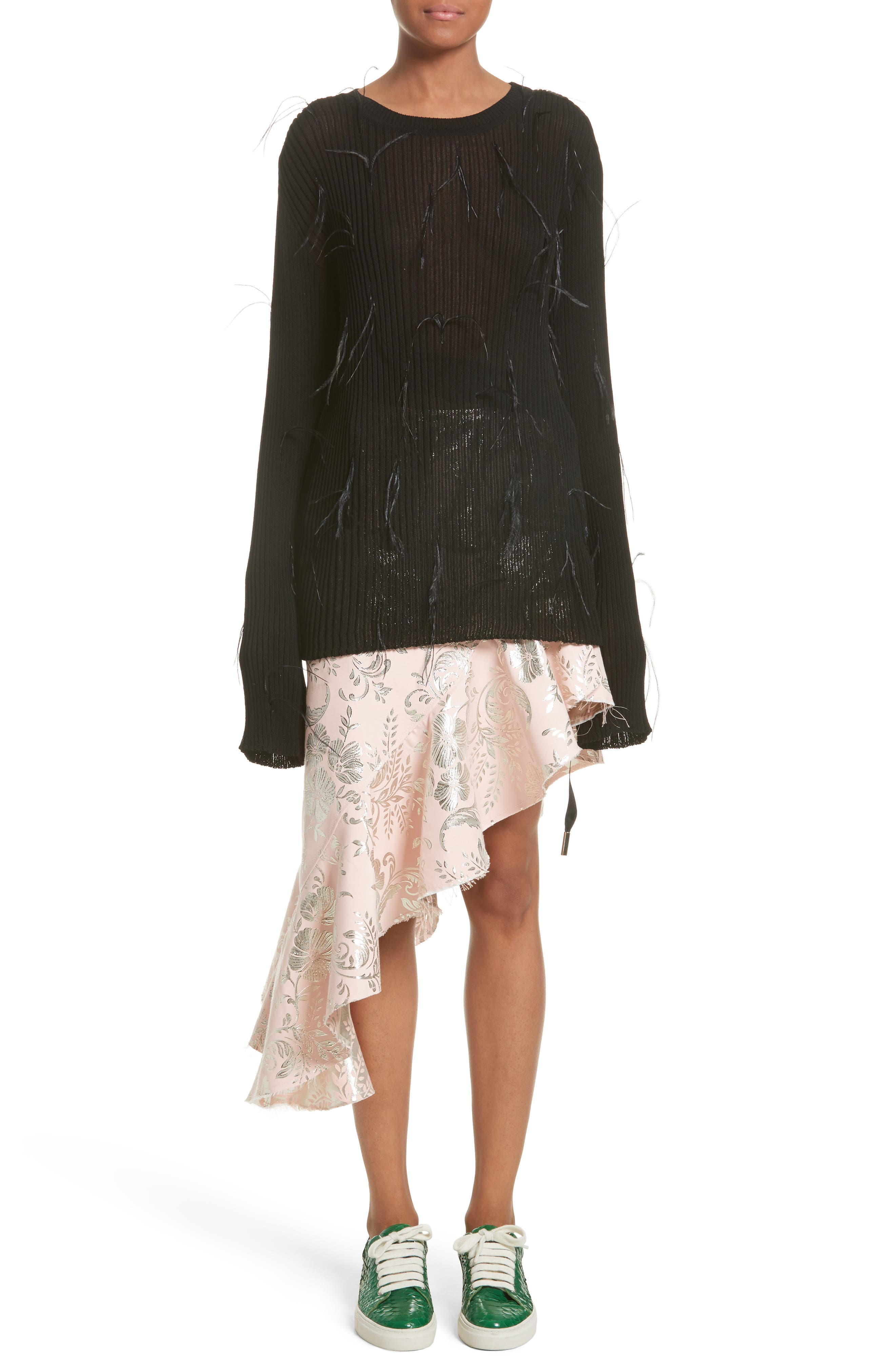 Alternate Image 6  - Marques'Almeida Asymmetrical Frilled Brocade Skirt