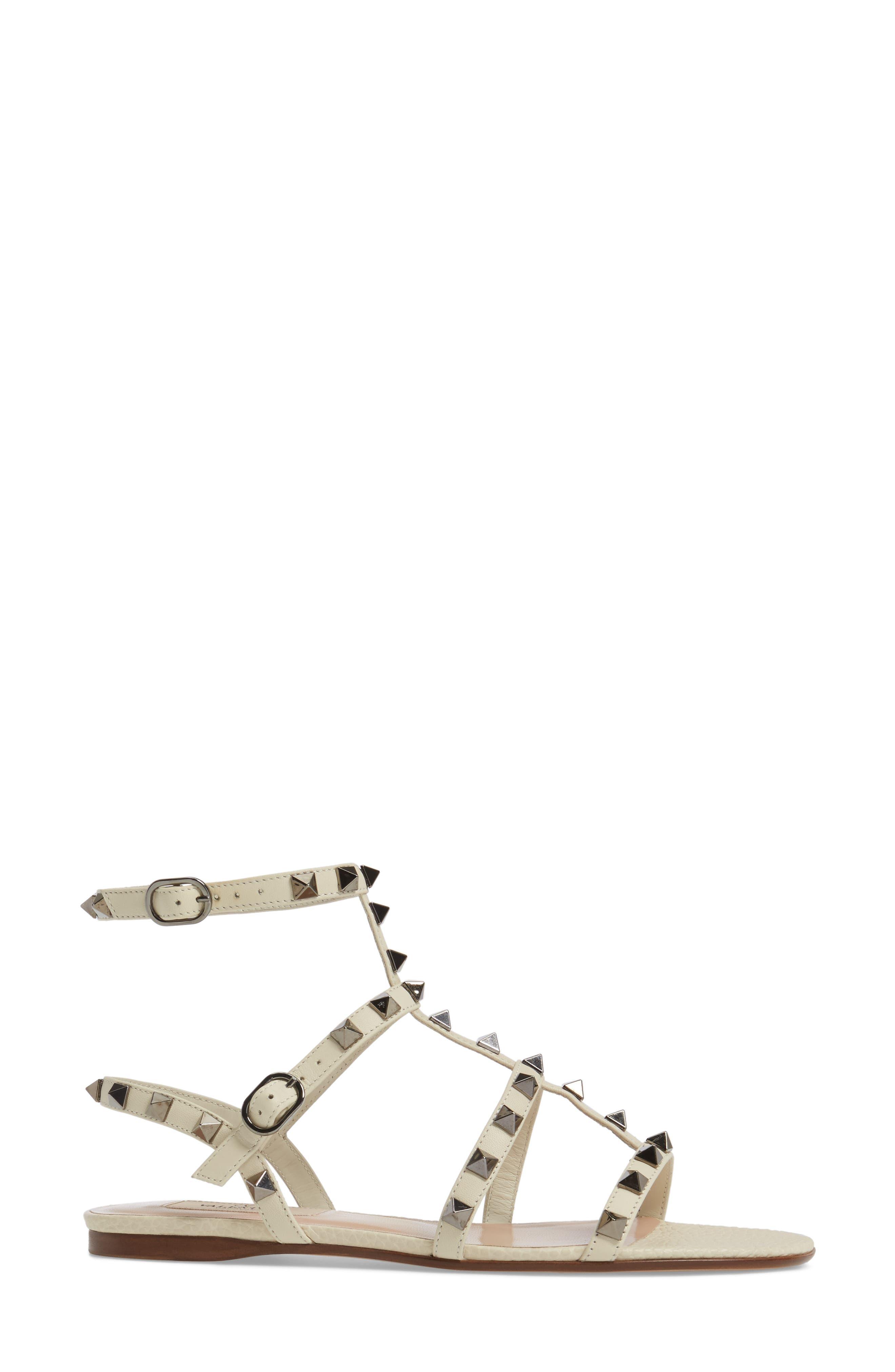 Alternate Image 3  - Valentino Rockstud Gladiator Sandal (Women)