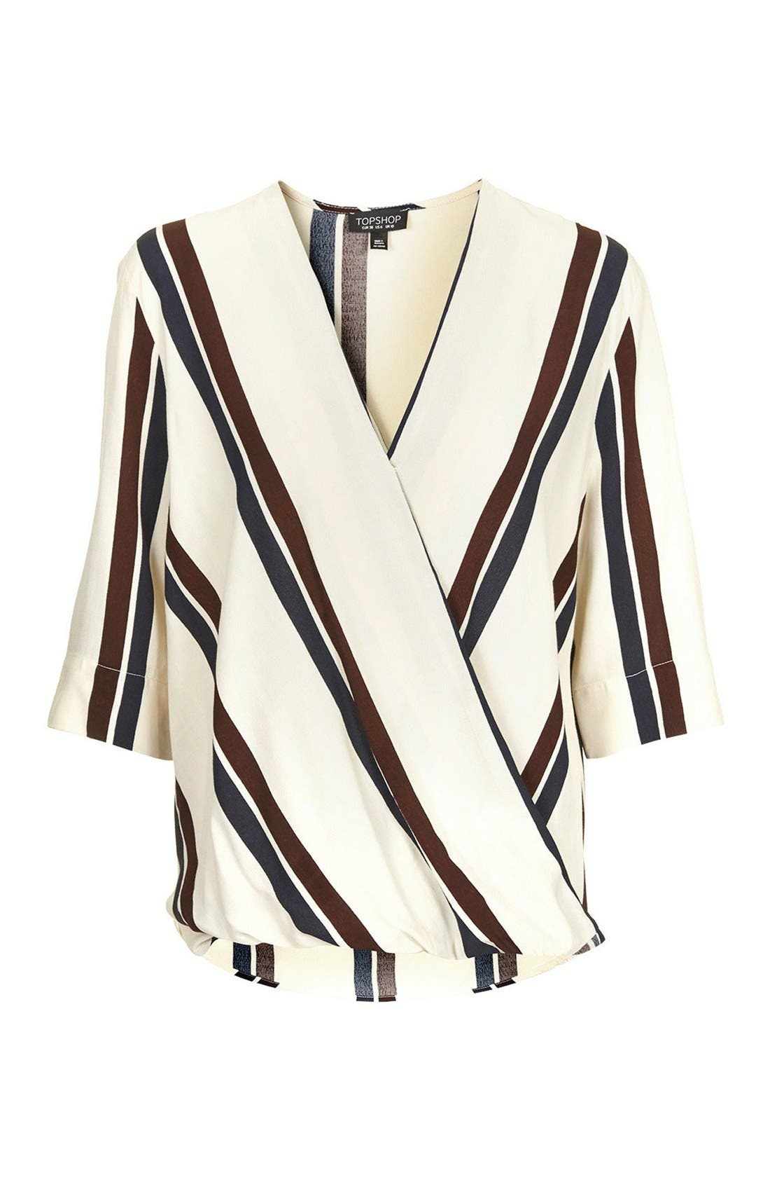 Alternate Image 3  - Topshop Drape Front Blouse