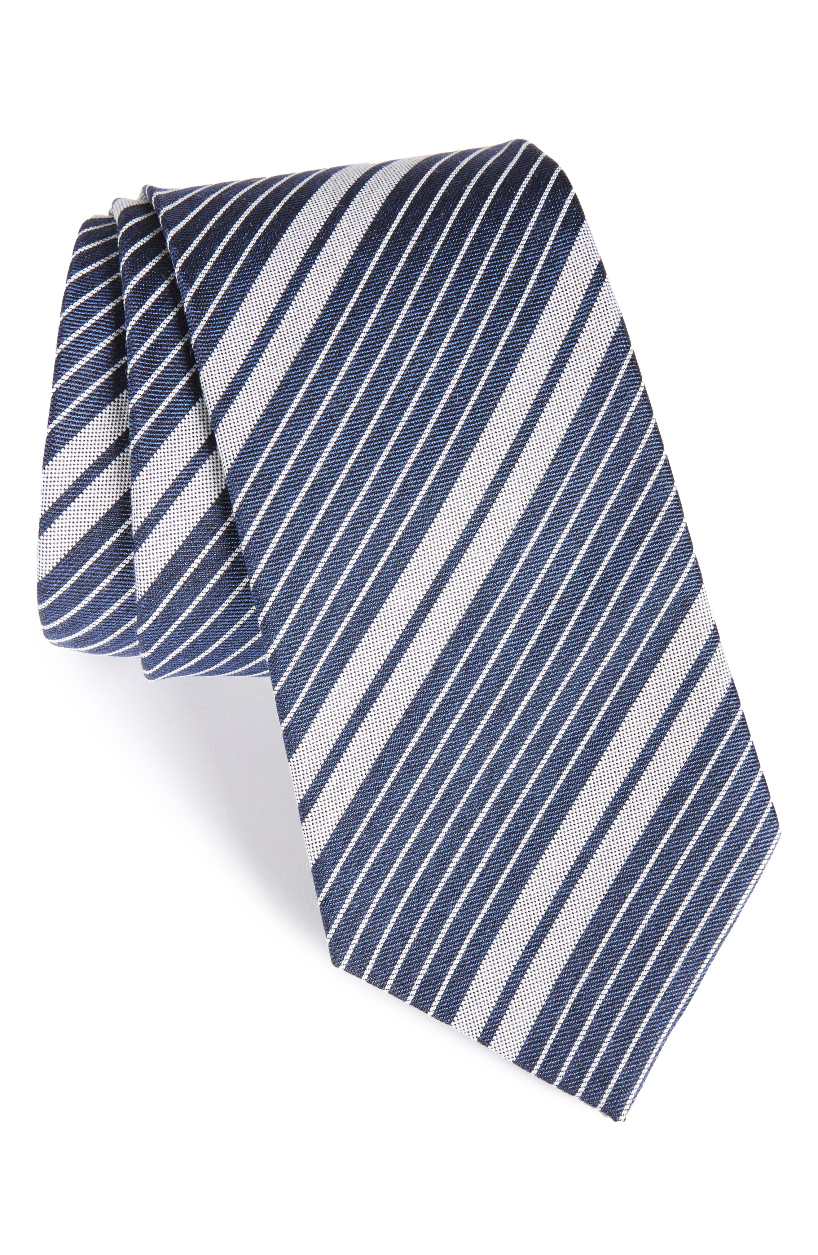 Burberry Clinton Stripe Silk Tie