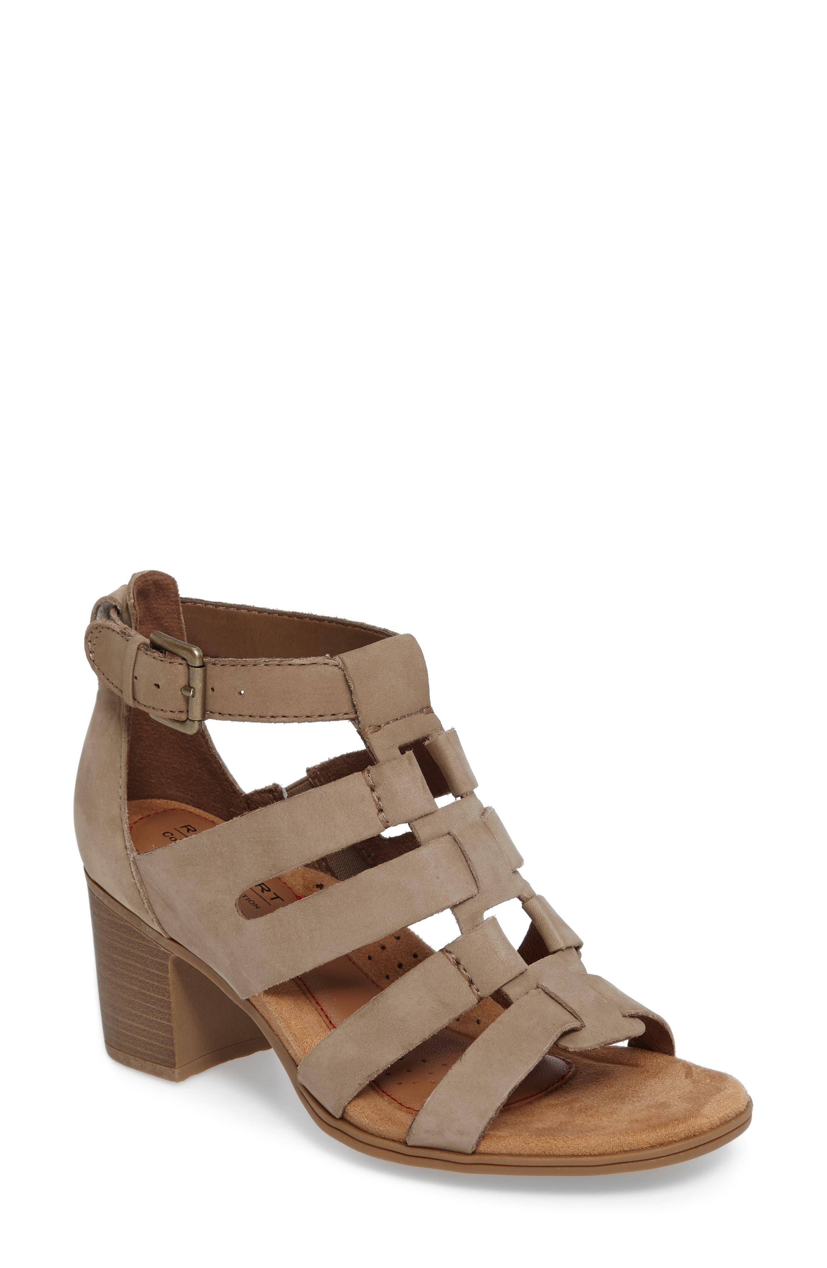 Alternate Image 1 Selected - Rockport Cobb Hill Hattie Block Heel Gladiator Sandal (Women)