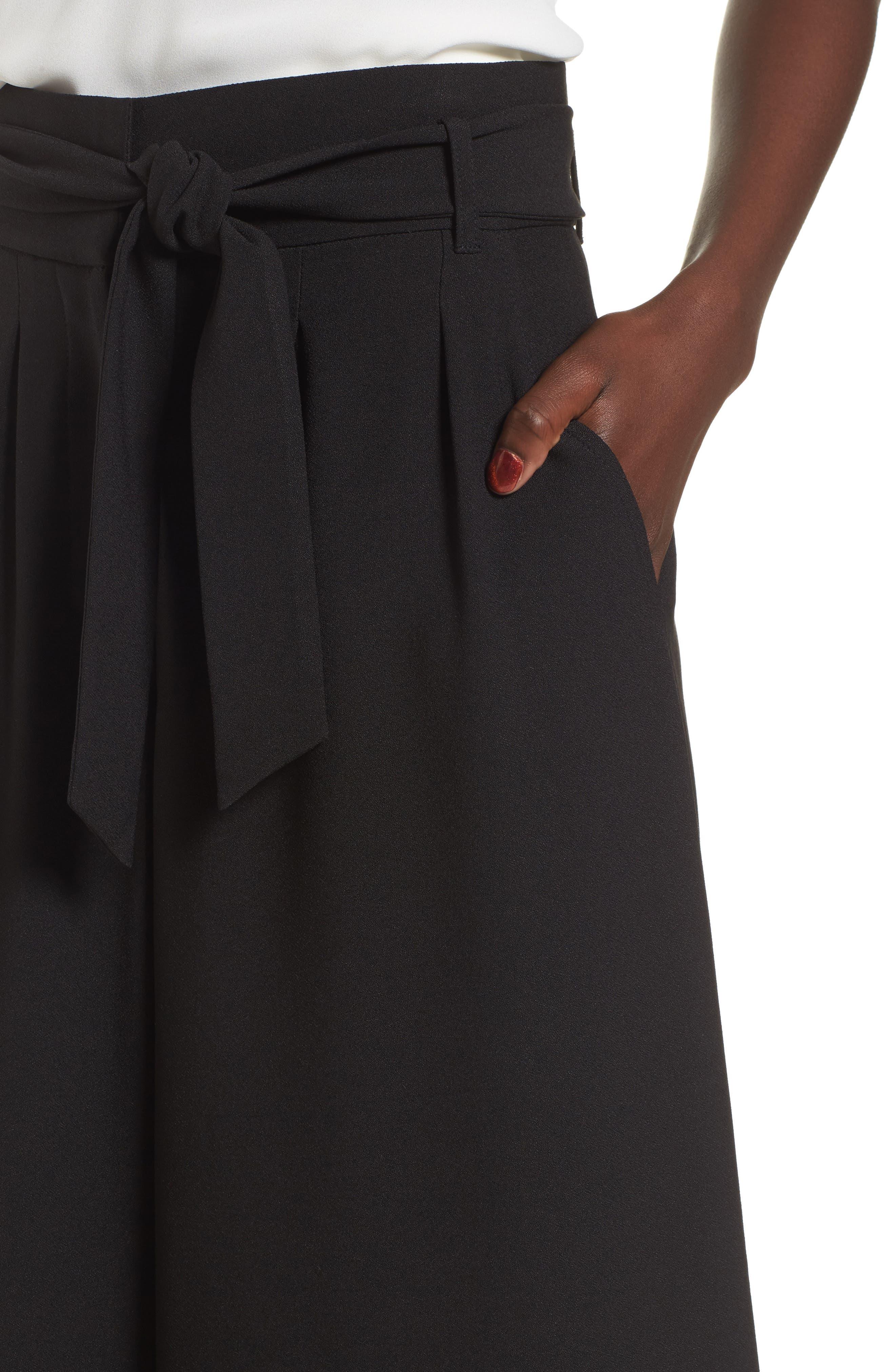 Alternate Image 4  - Leith High Waist Crop Wide Leg Pants