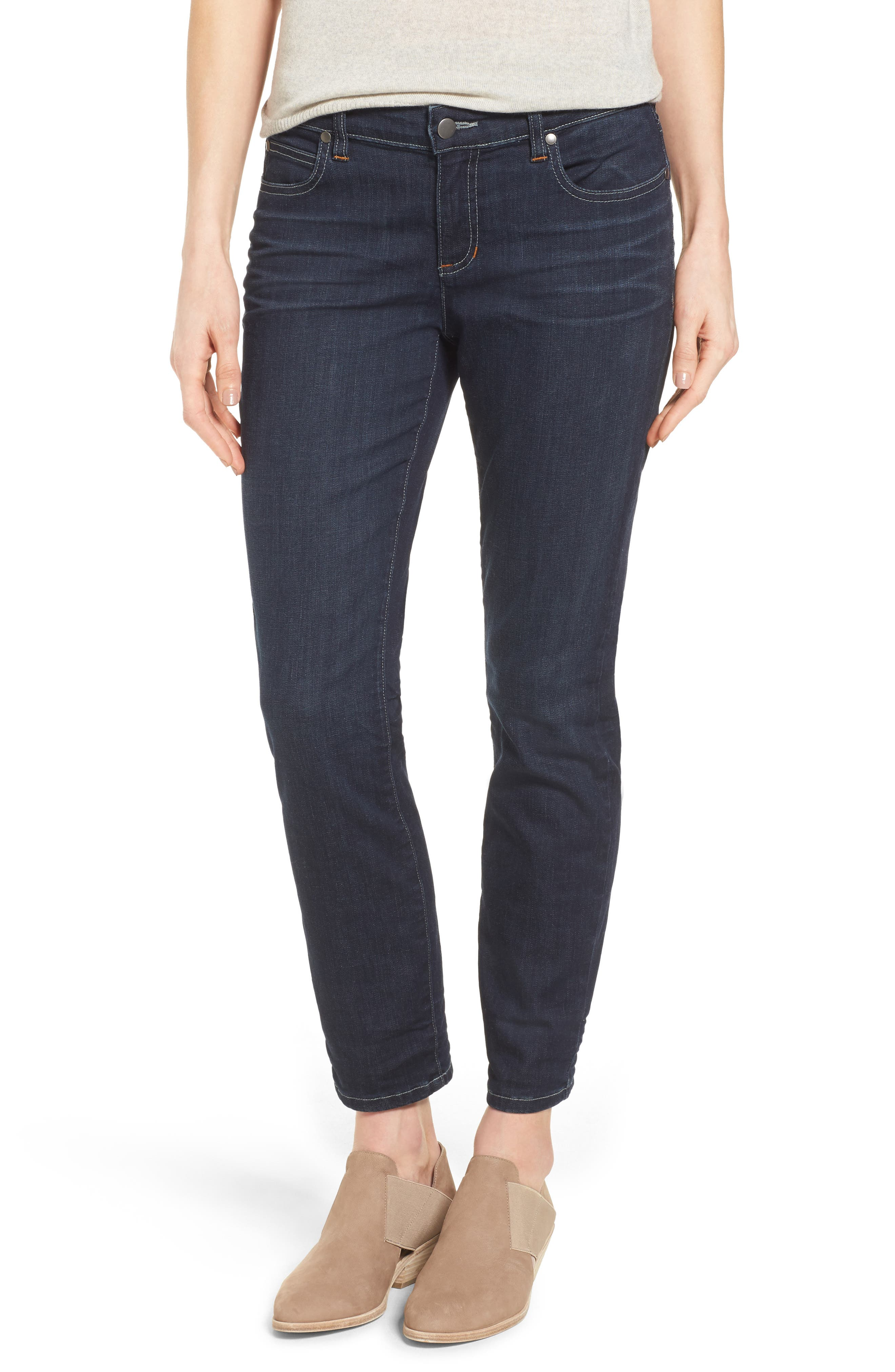 Alternate Image 1 Selected - Eileen Fisher Slim Stretch Ankle Jeans