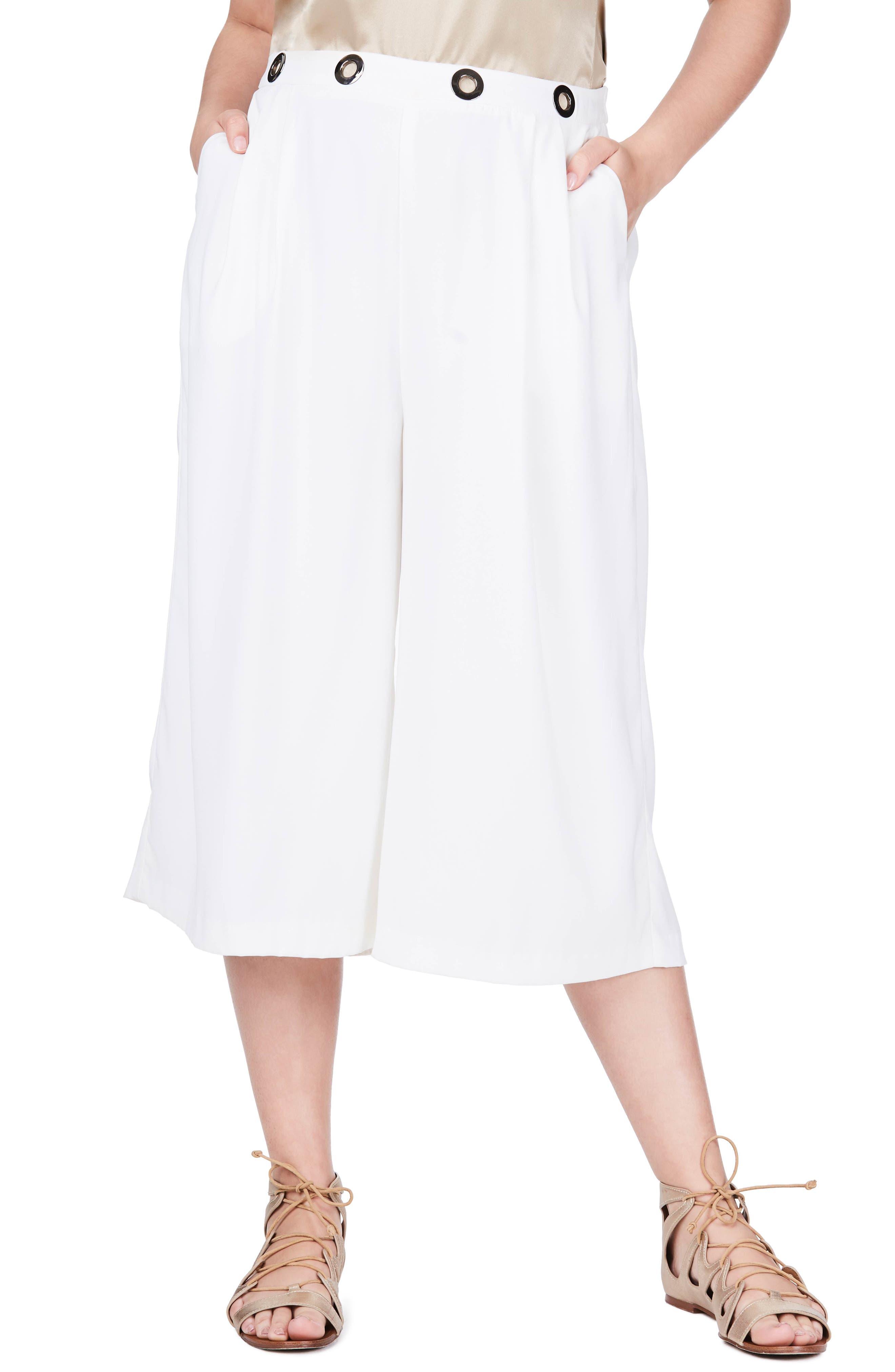 ELVI Grommet Culottes (Plus Size)