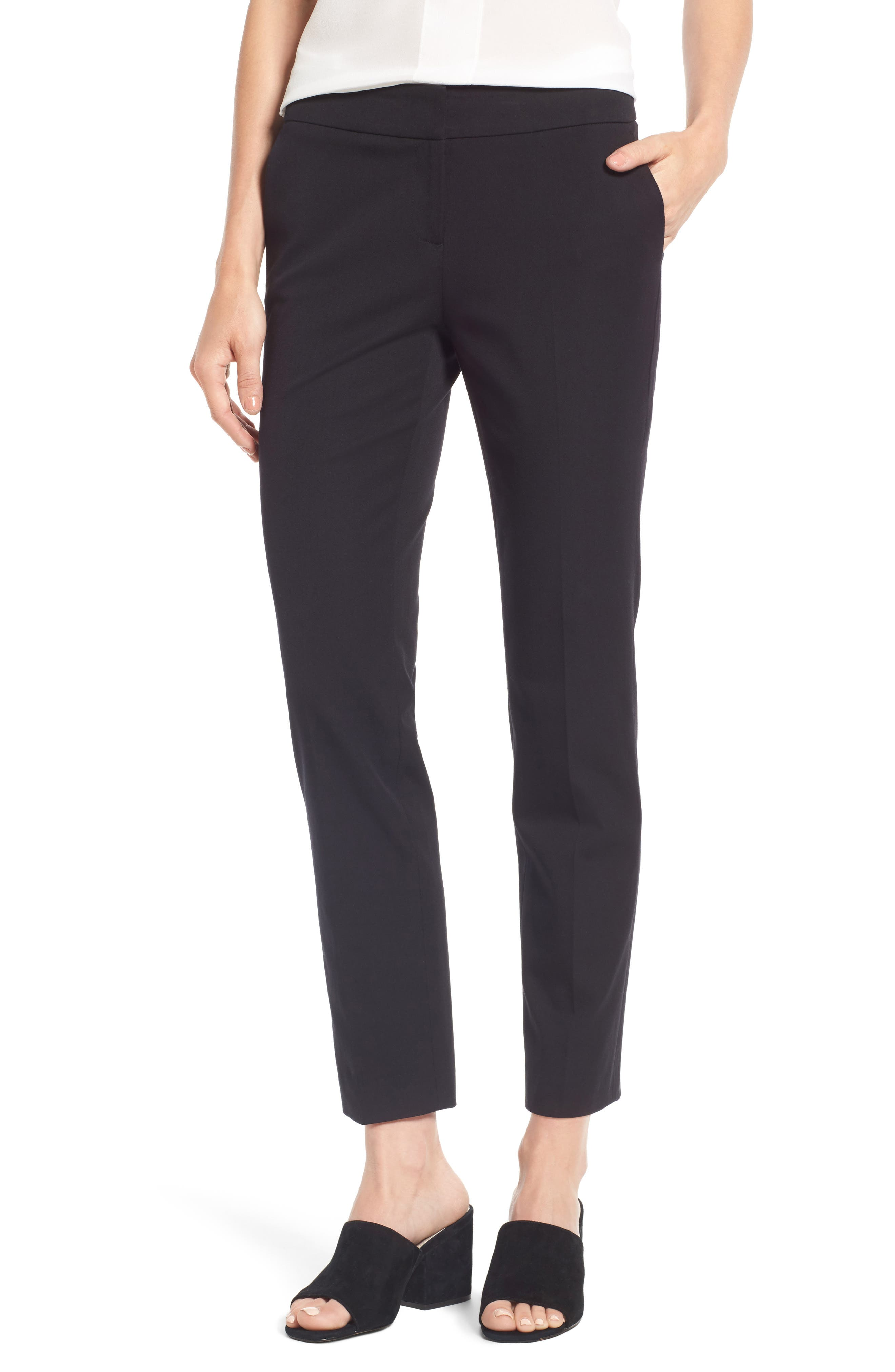 Halogen® Slim Ankle Pants (Regular & Petite)