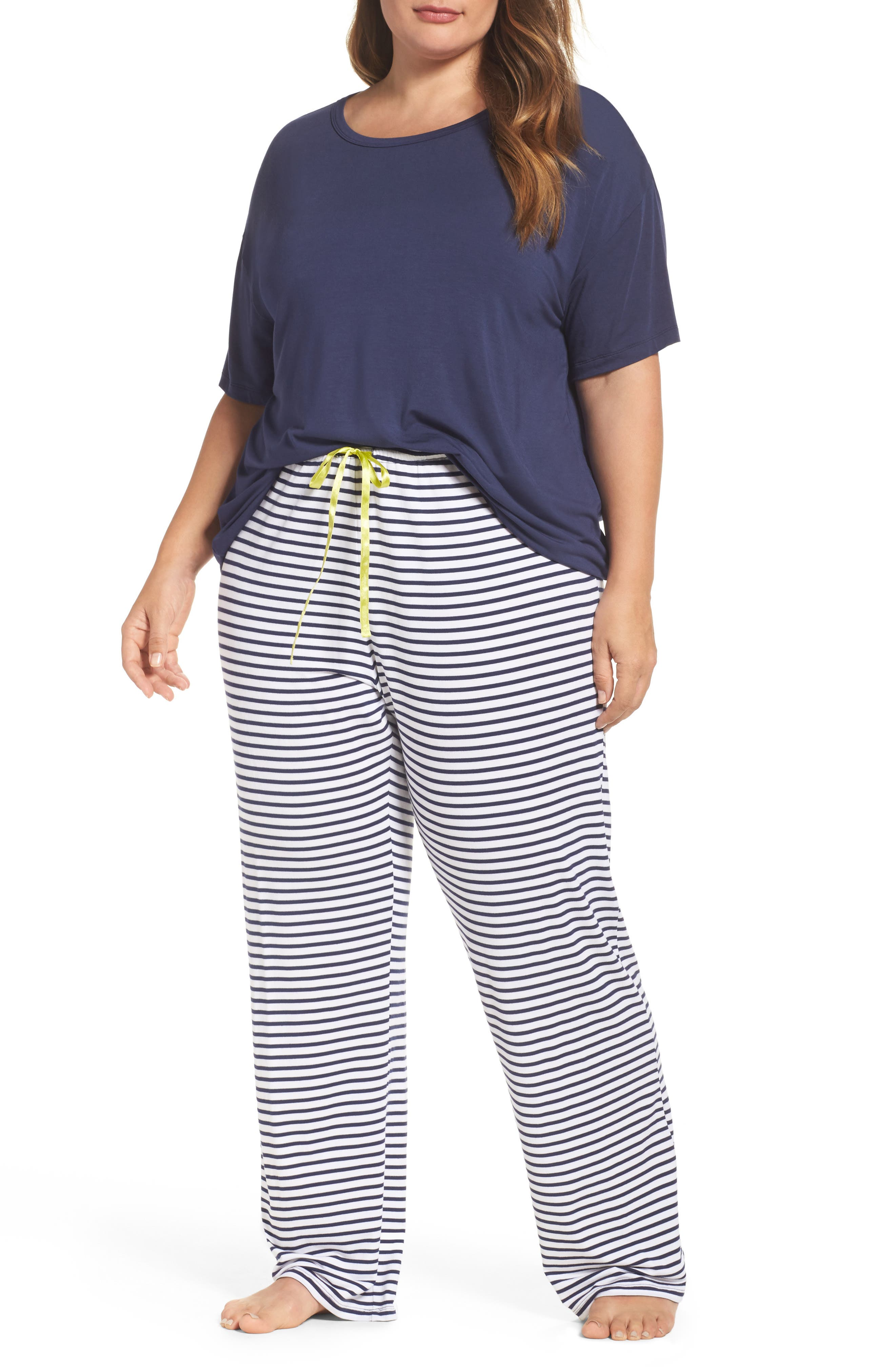 PJ Salvage Lounge Tee & Pants (Plus Size)