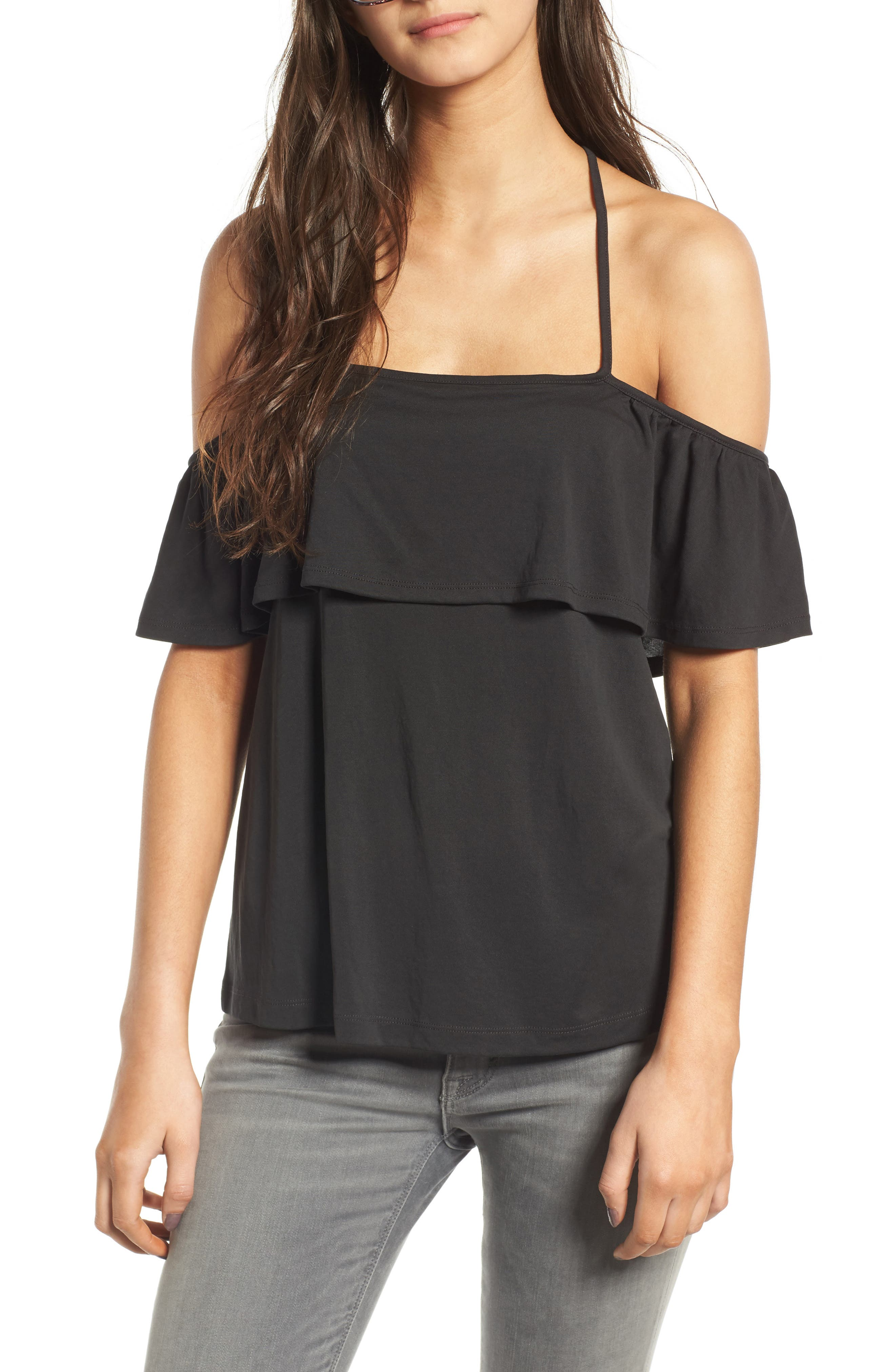 Chelsea28 Off the Shoulder Ruffle Top