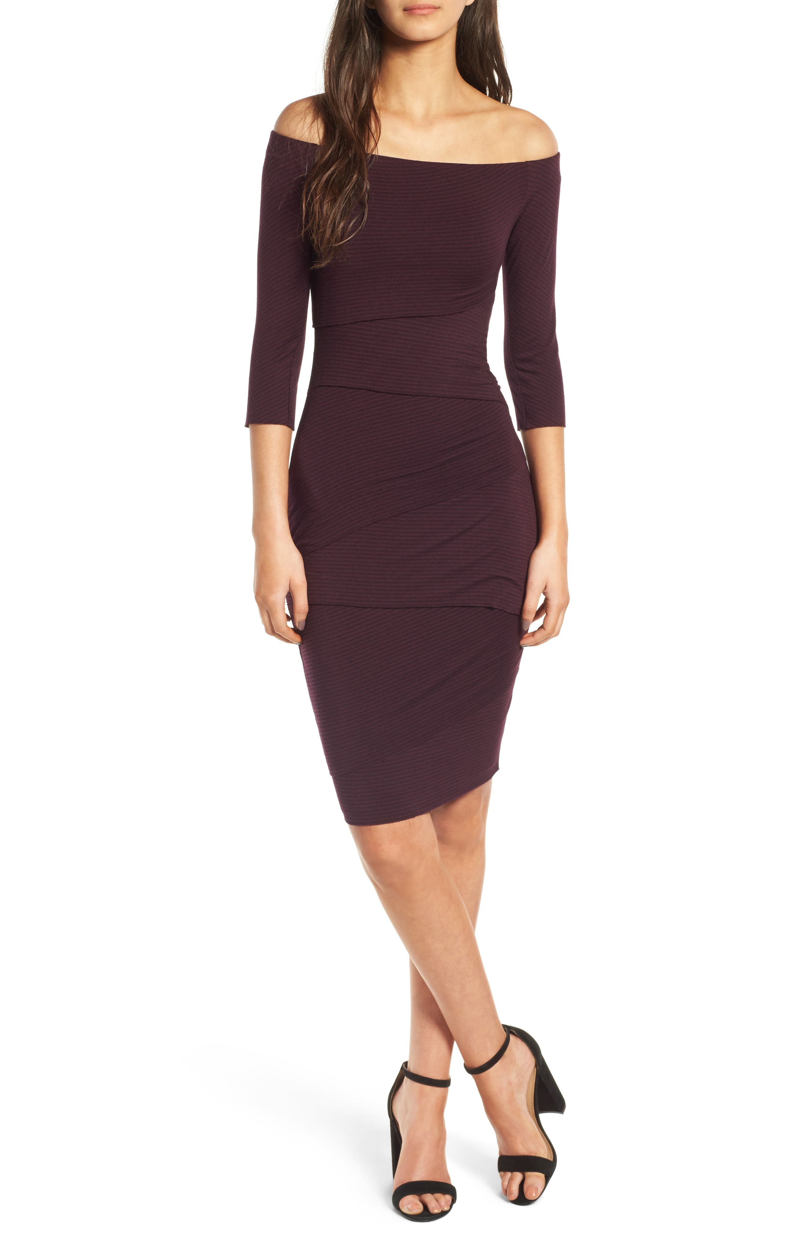 Bailey 44 Degage Off the Shoulder Body-Con Dress