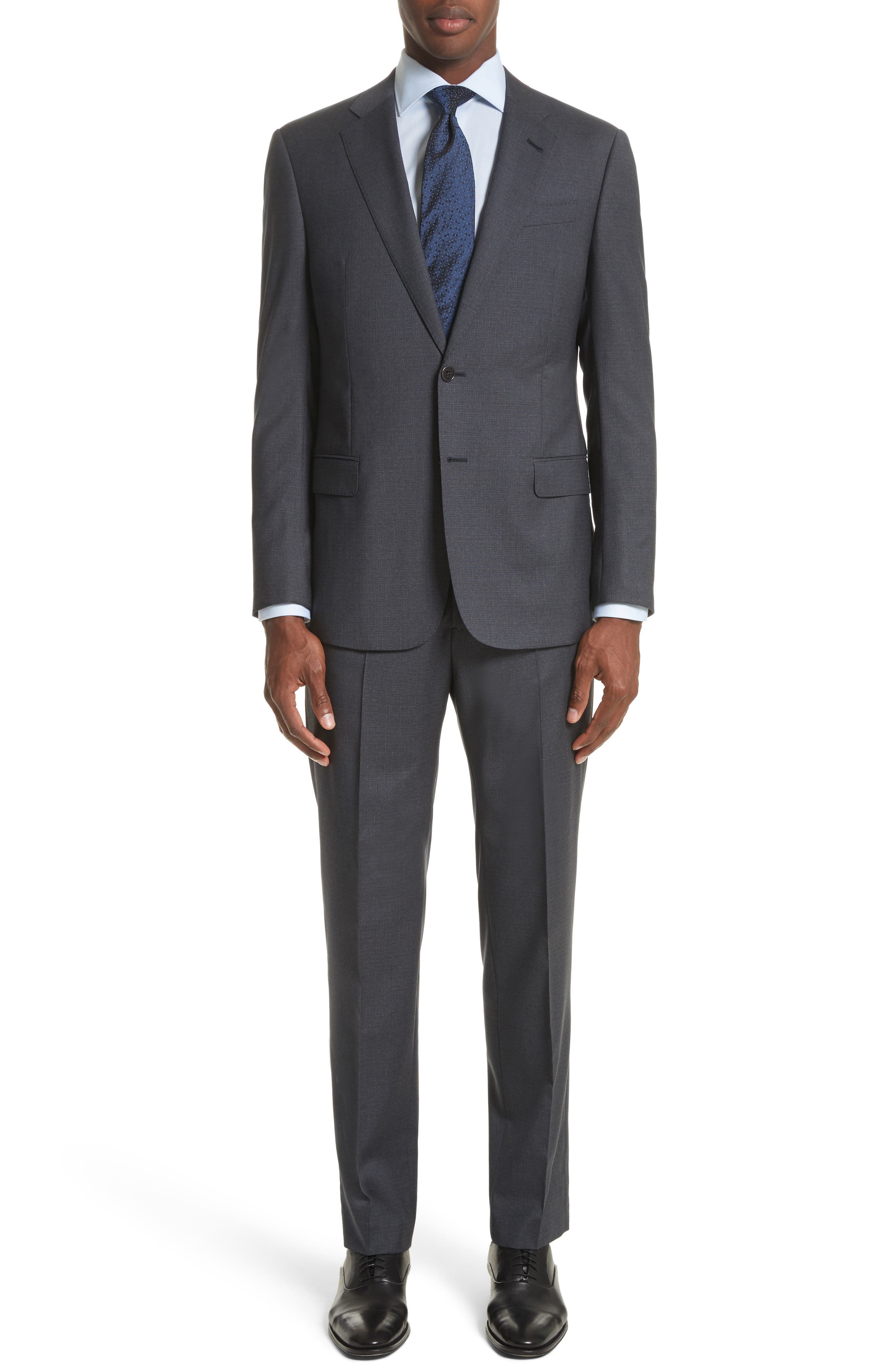 Armani Collezioni Trim Fit Check Wool Suit