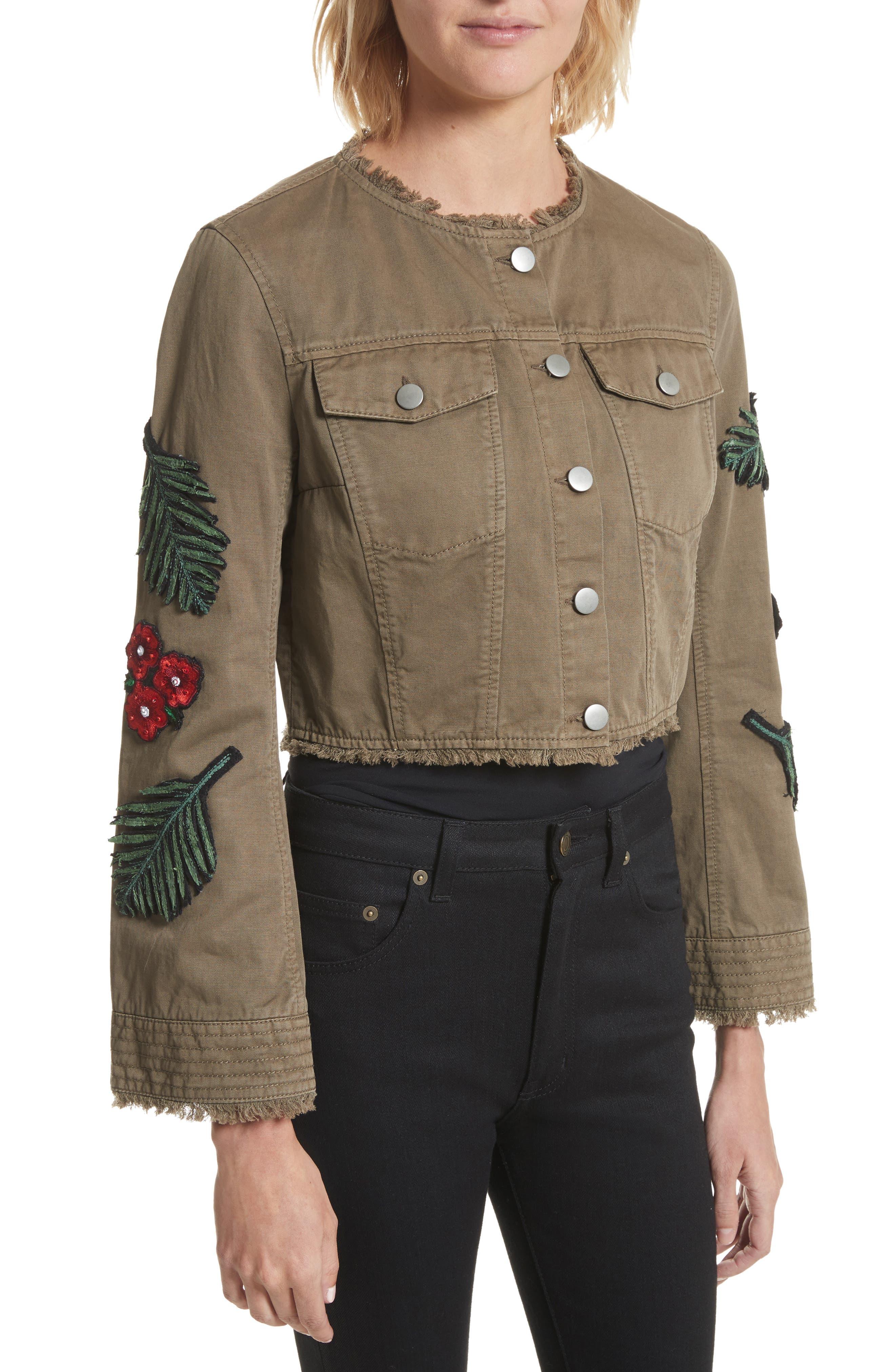 Alternate Image 4  - Cinq à Sept Halina Embellished Crop Jacket