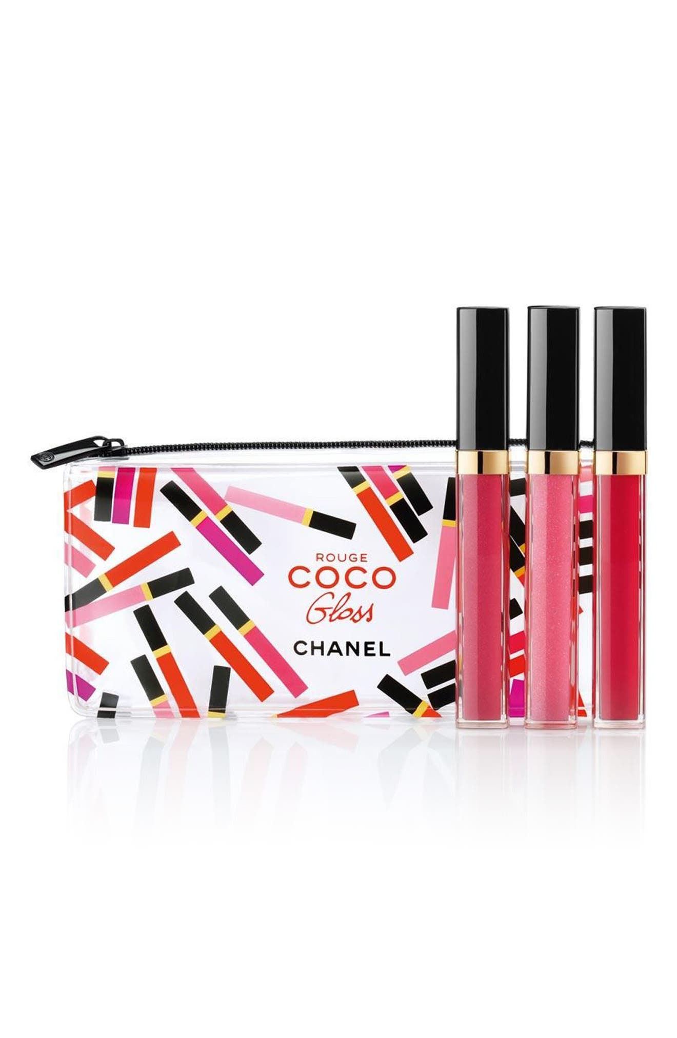 CHANEL BRIGHTS ROUGE COCO GLOSS Moisturizing Glossimer Trio