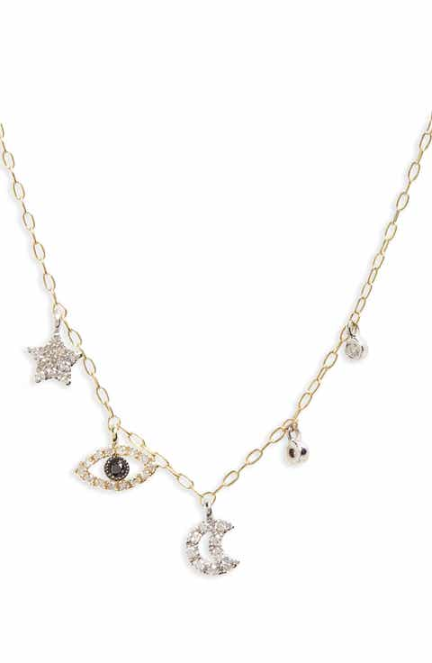 Meira T Diamond Charm Necklace