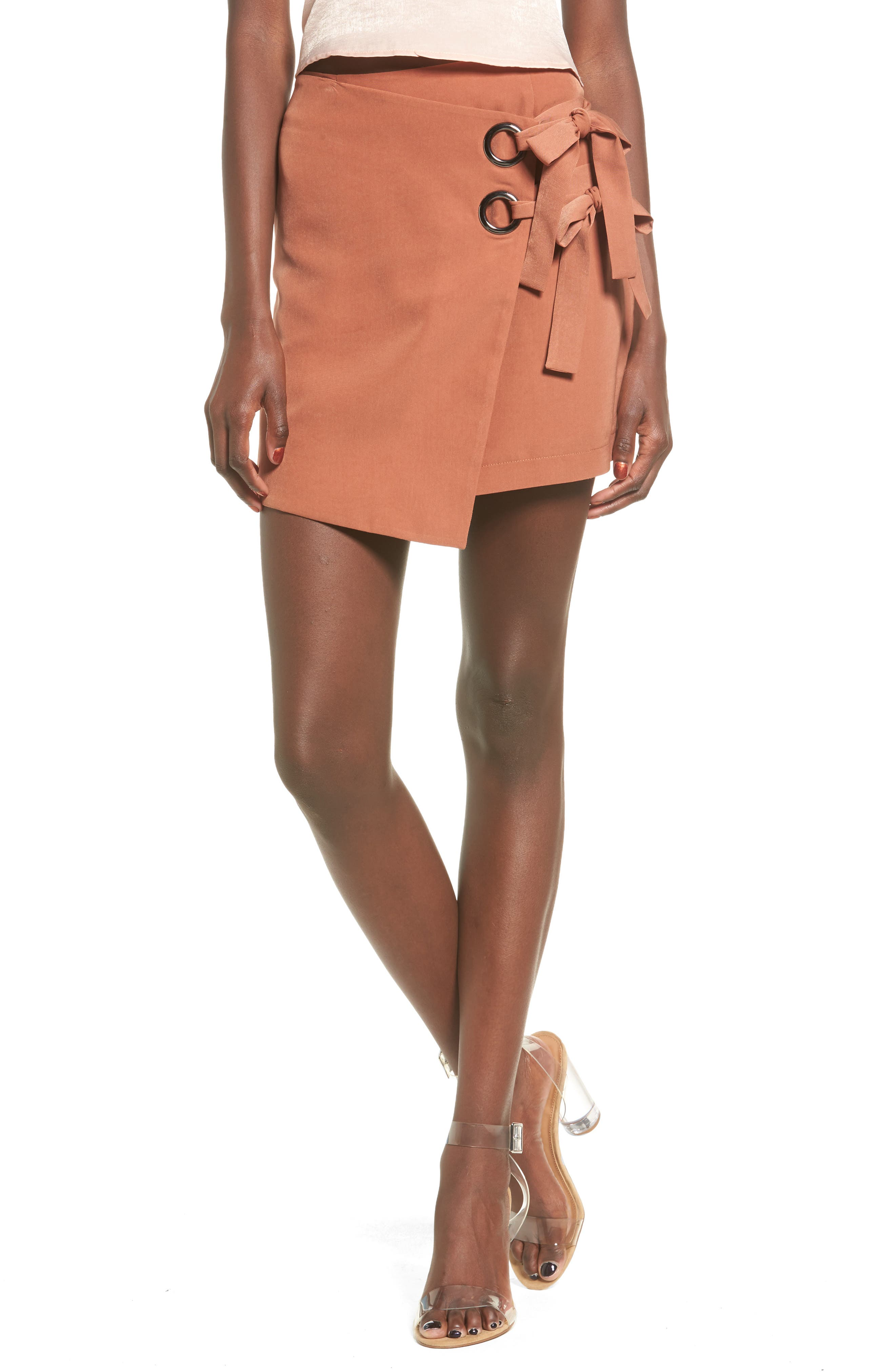 J.O.A. Wrap Miniskirt