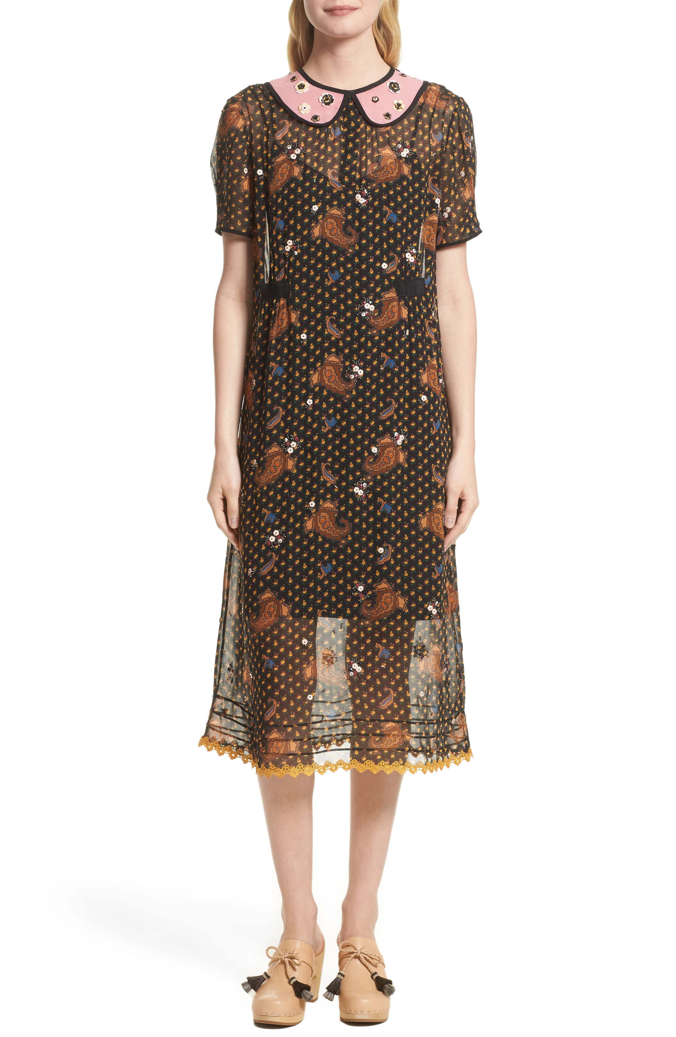 COACH 1941 Embellished Midi Dress