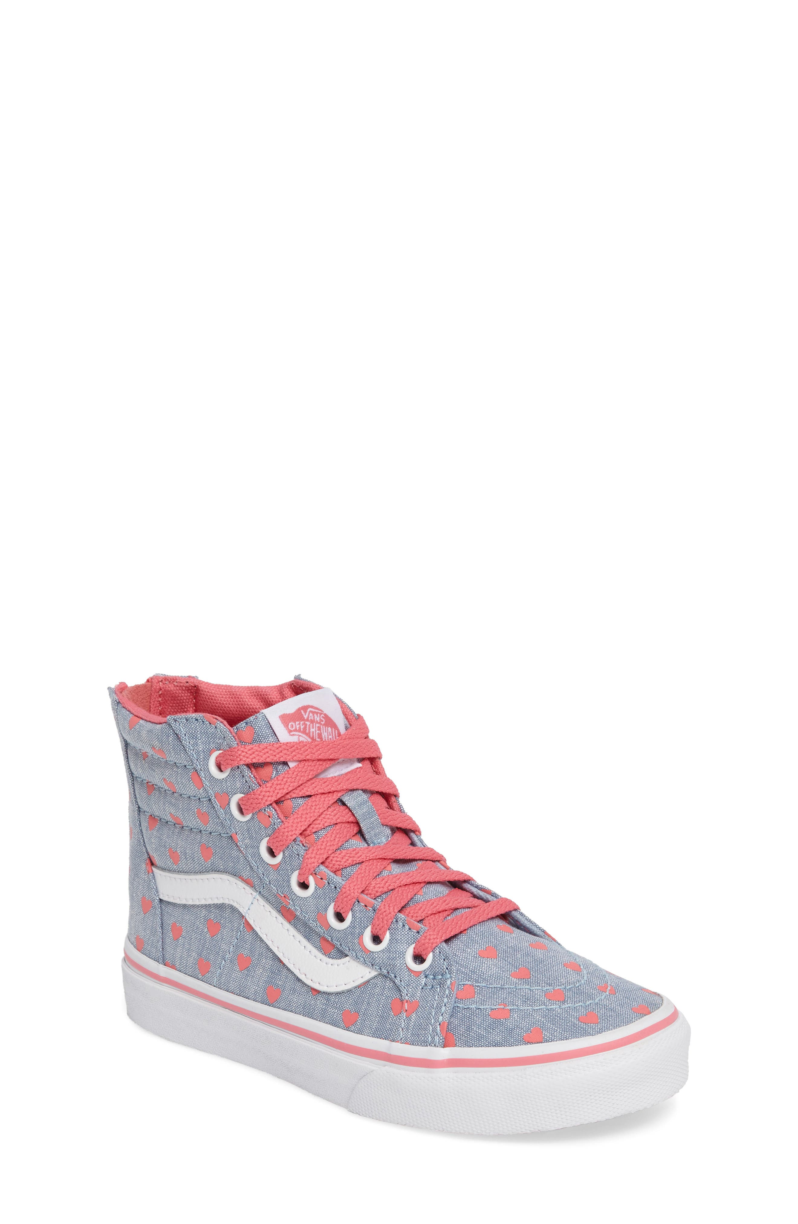 Vans SK8-HI Zip Heart Sneaker (Baby, Walker, Toddler, Little Kid & Big Kid)