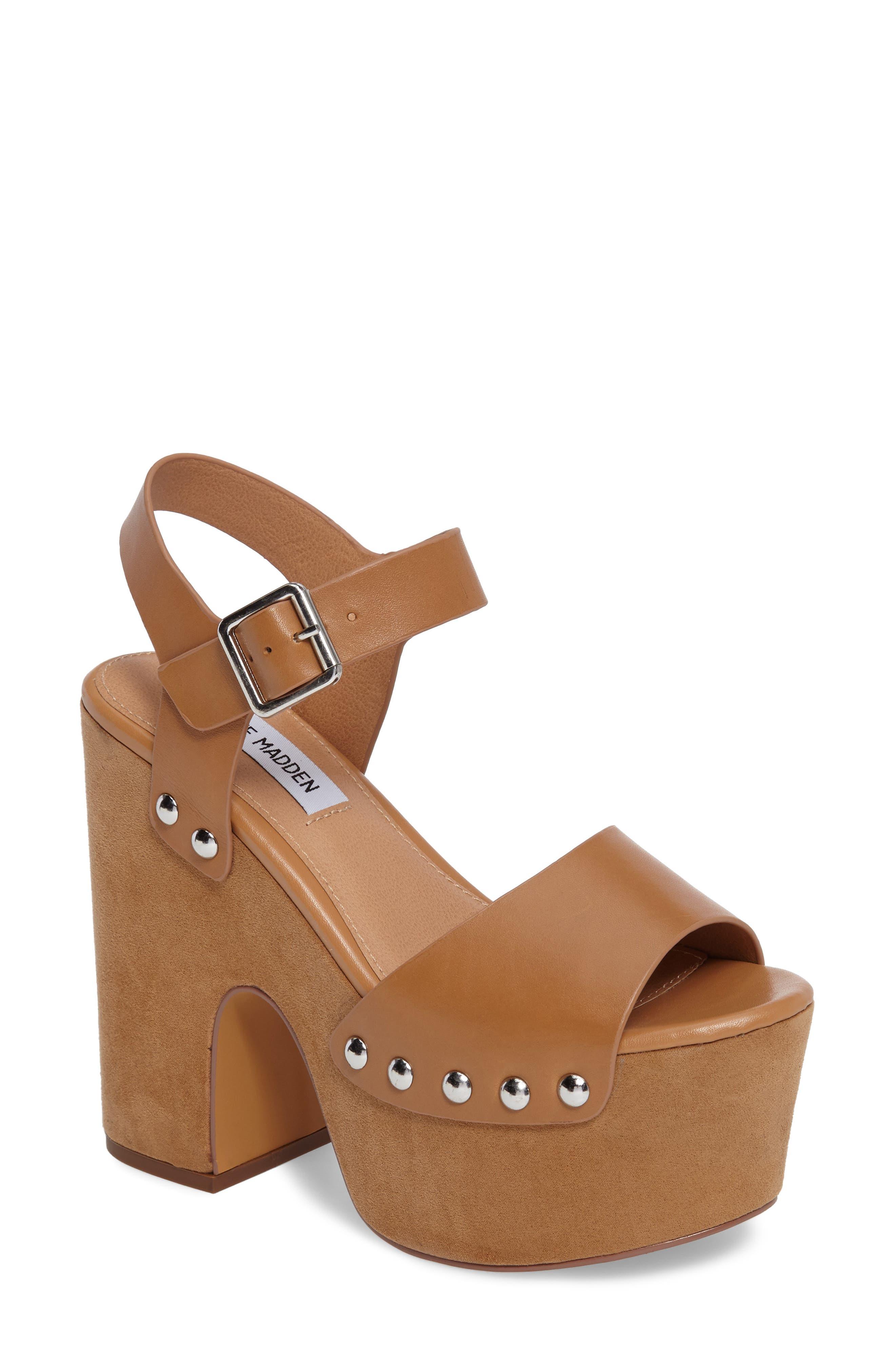 Steve Madden Adrina Studded Platform Sandal (Women)