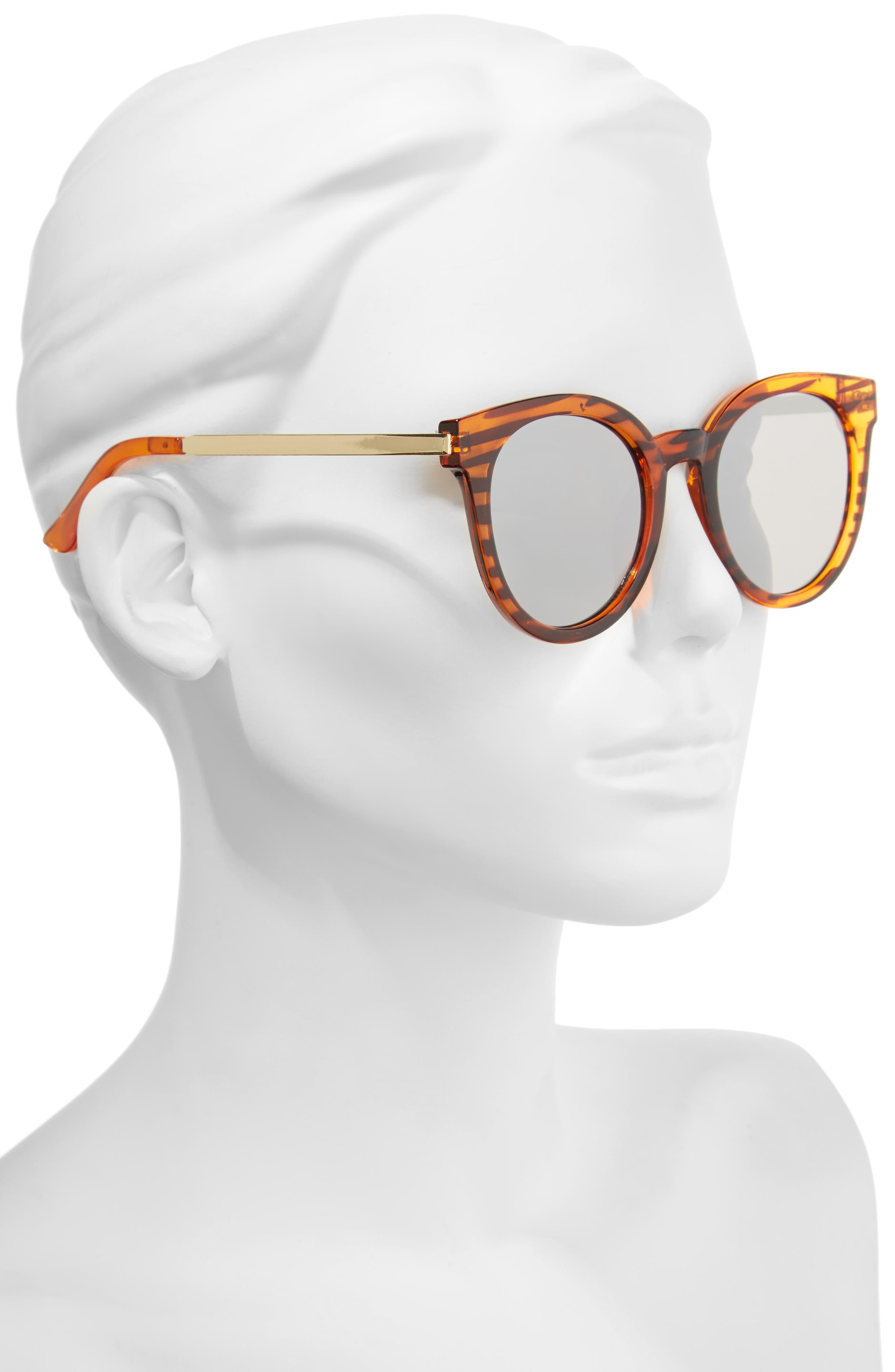 Alternate Image 2  - A.J. Morgan Hi There 50mm Mirrored Round Sunglasses