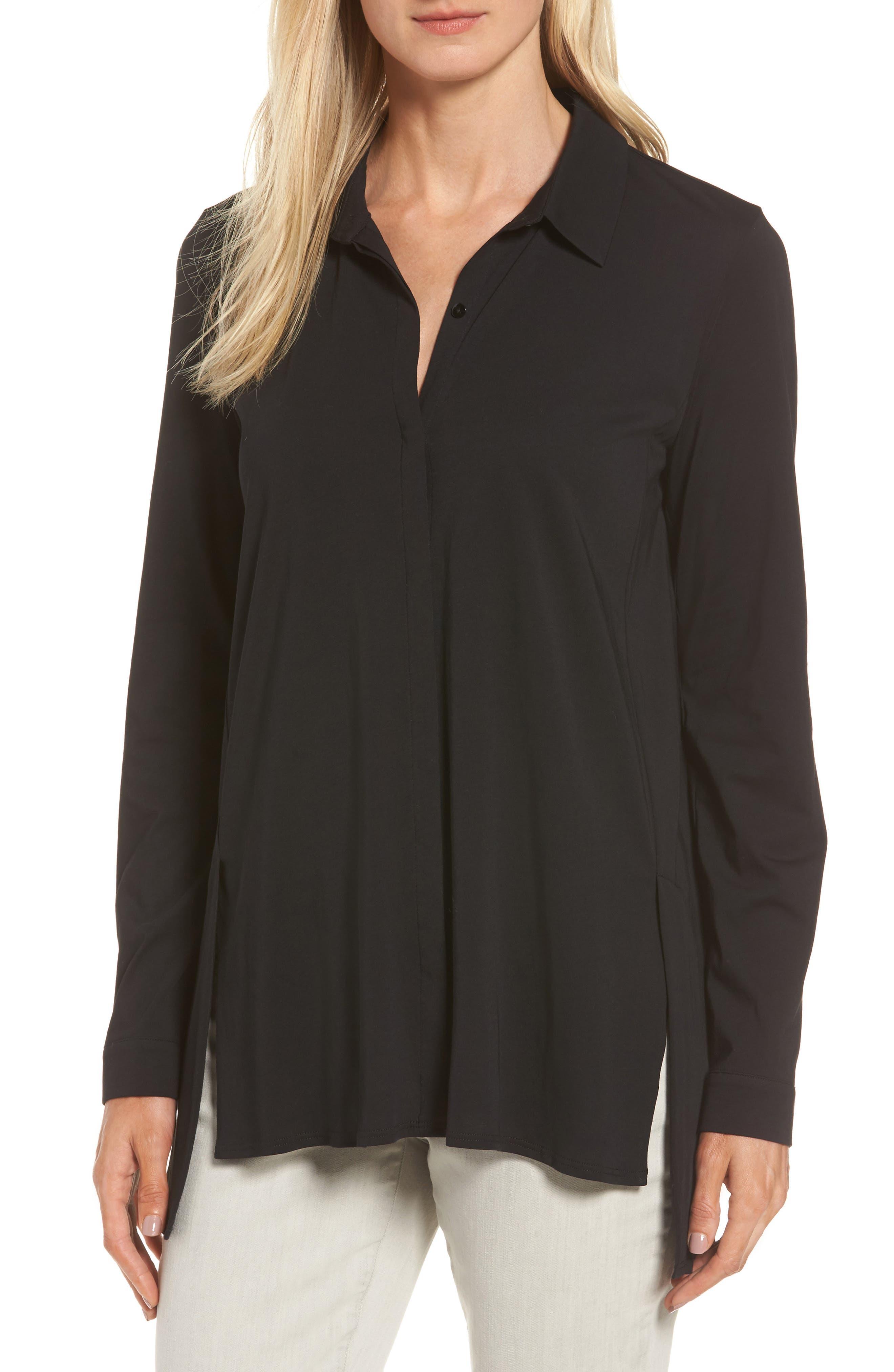 Eileen Fisher Organic Cotton Knit Shirt