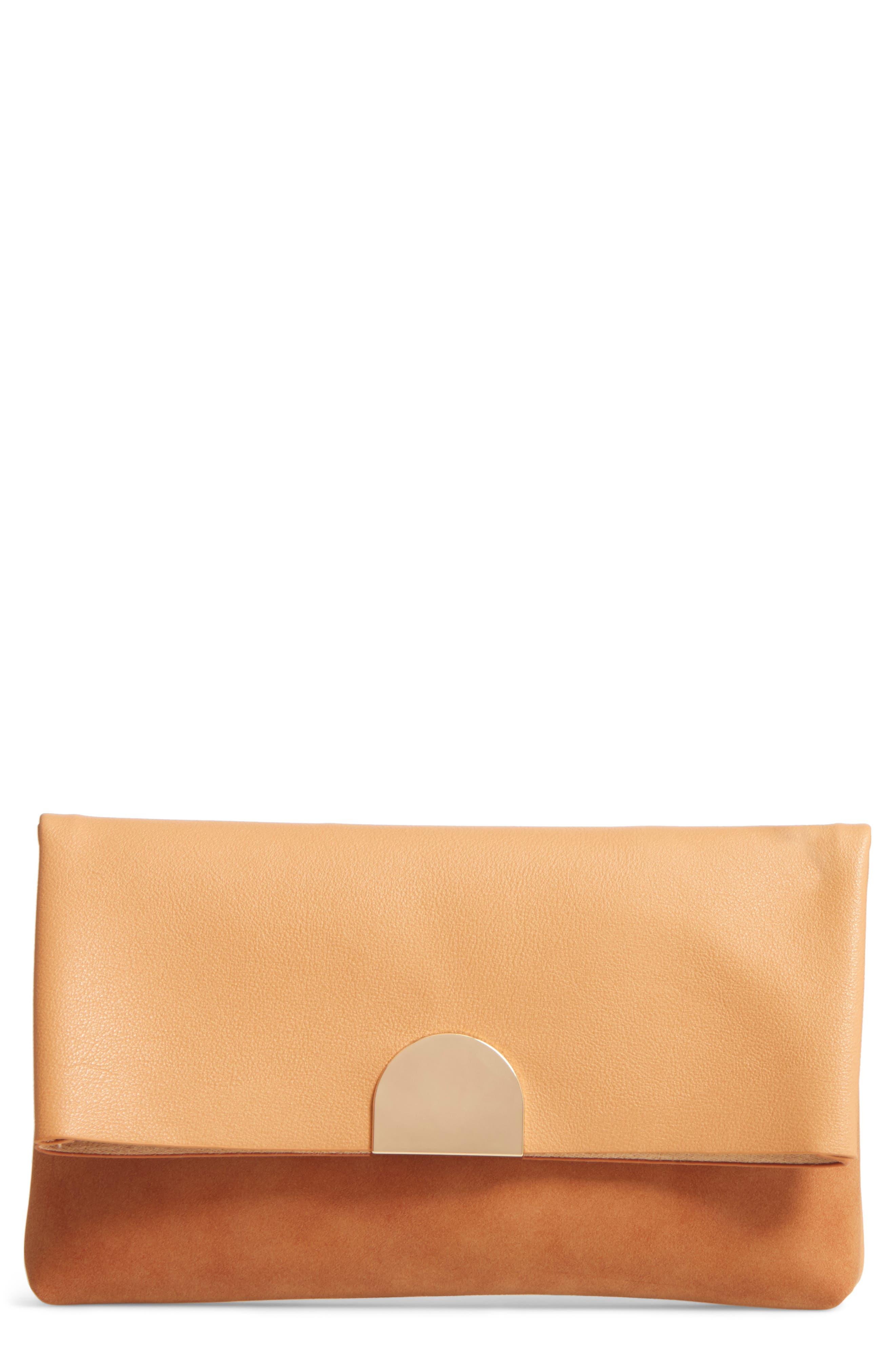 BP. Faux Leather Foldover Clutch