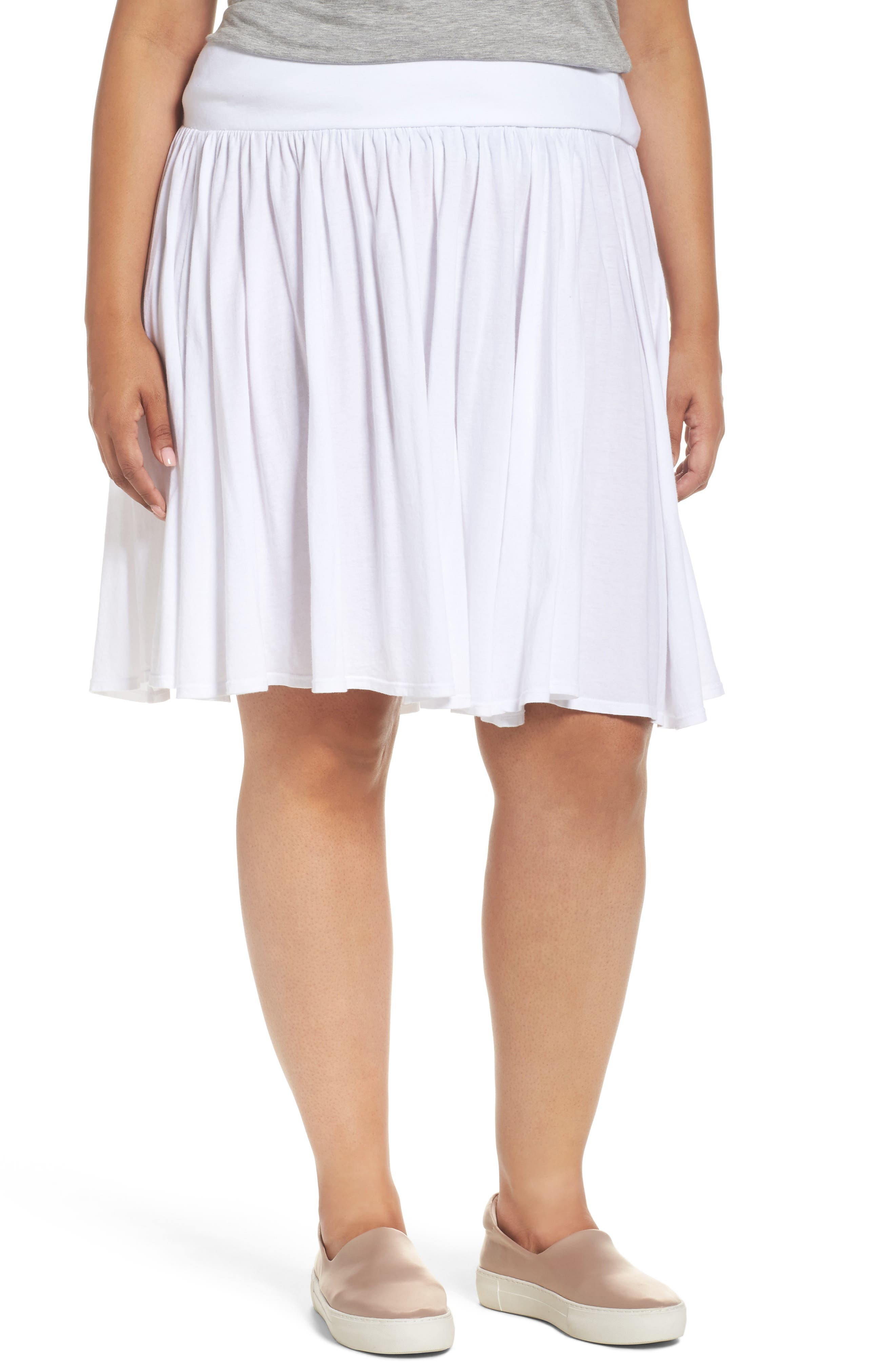 Three Dots Colette Full Jersey Skirt (Plus Size)