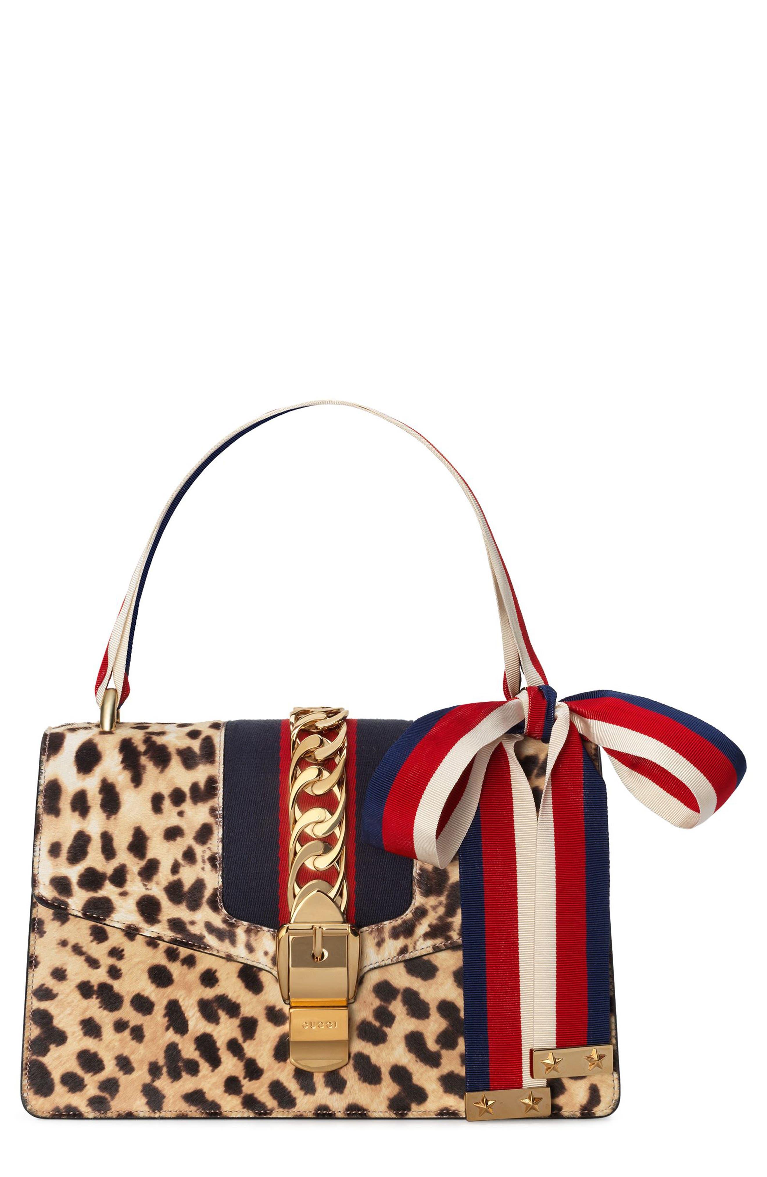 Gucci Small Sylvie Genuine Calf Hair Top Handle Bag