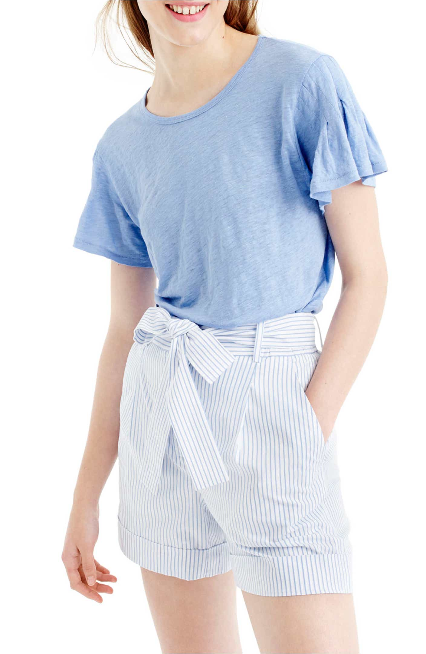 Ruffle sleeved tee