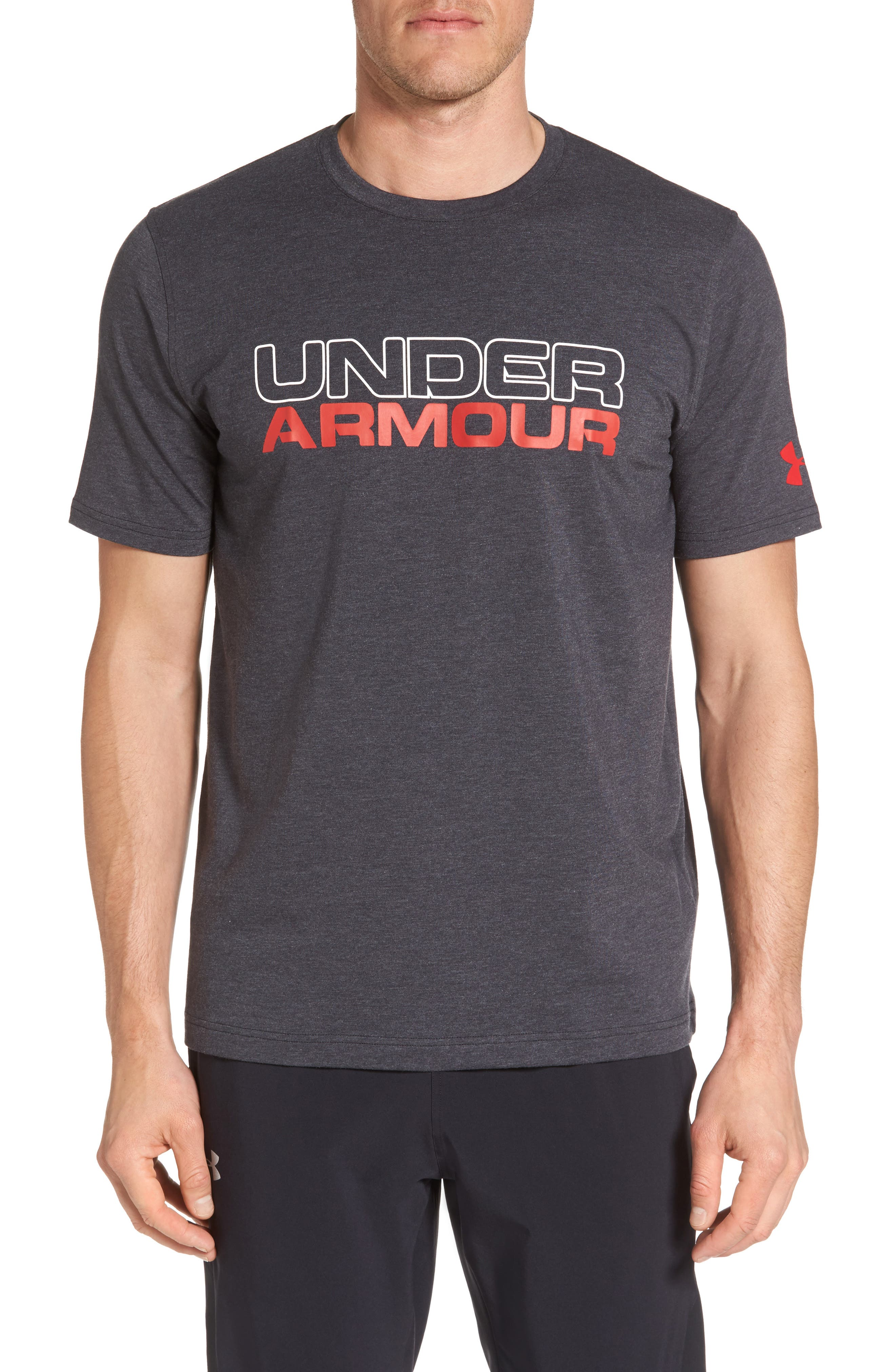 UNDER ARMOUR Stacked Wordmark Regular Fit T-Shirt