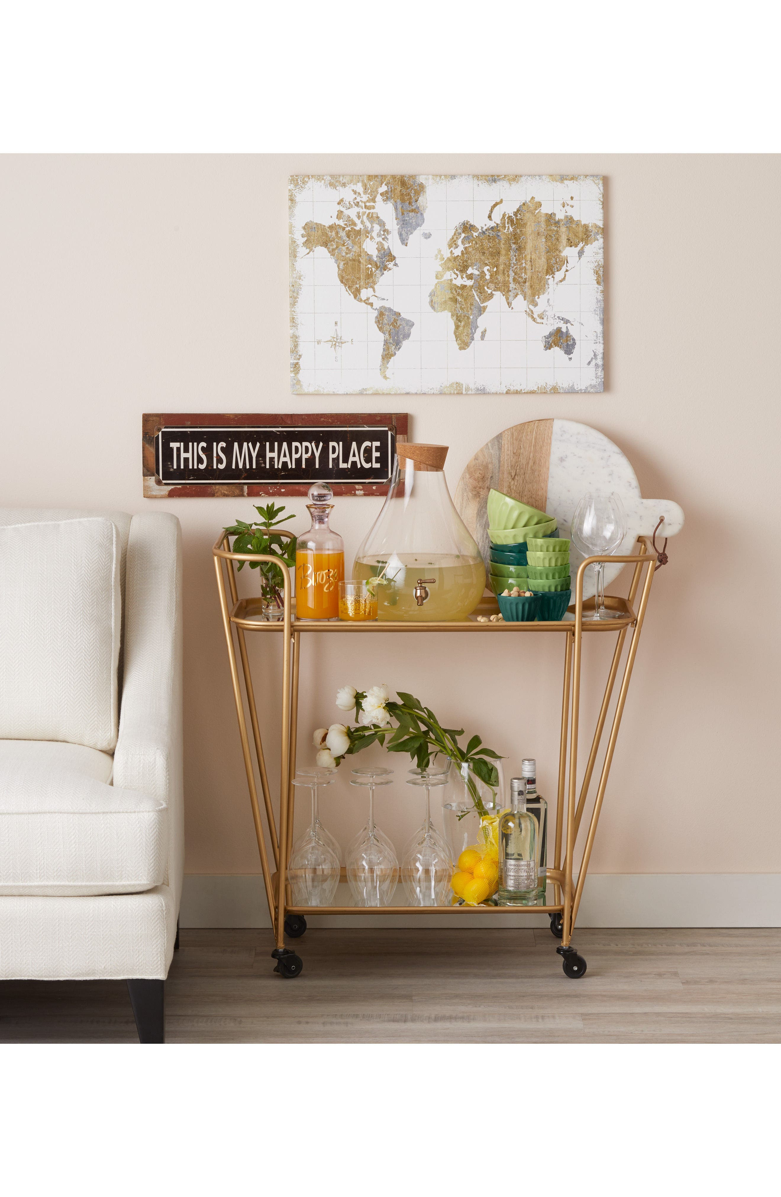 Alternate Image 3  - Poncho & Goldstein 'This Is My Happy Place' Sign