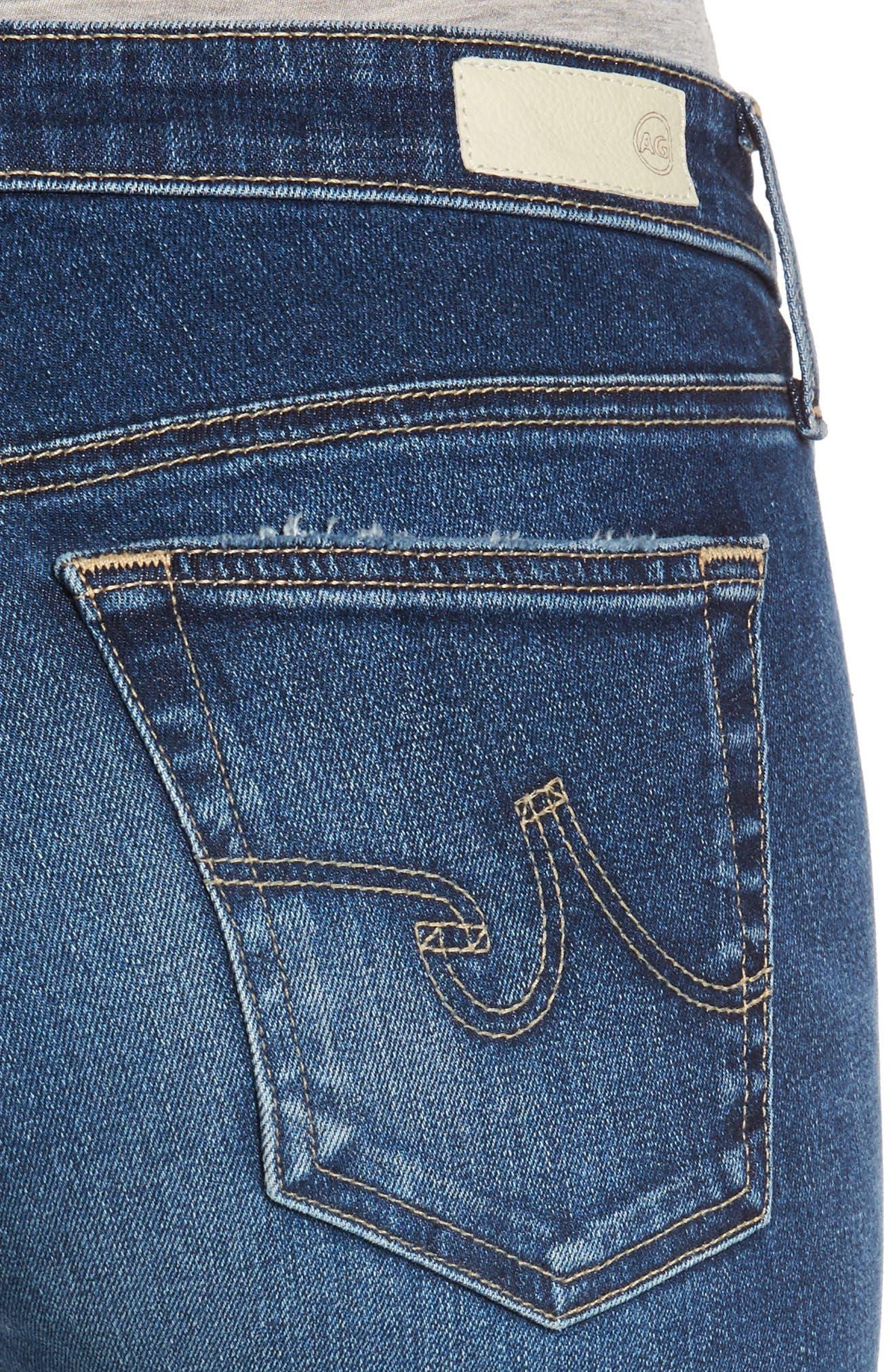Alternate Image 5  - AG The Legging Raw Hem Ankle Skinny Jeans (12 Years Blue Dust)