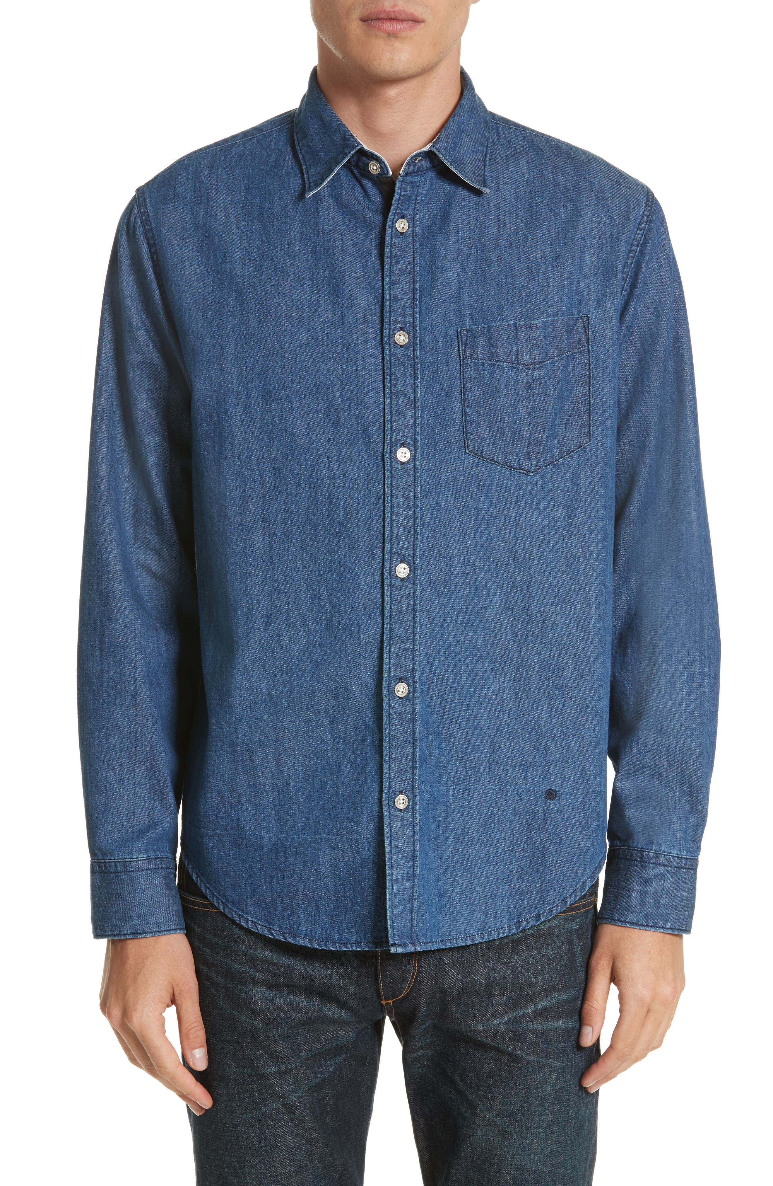 rag & bone Fit 3 Woven Denim Shirt