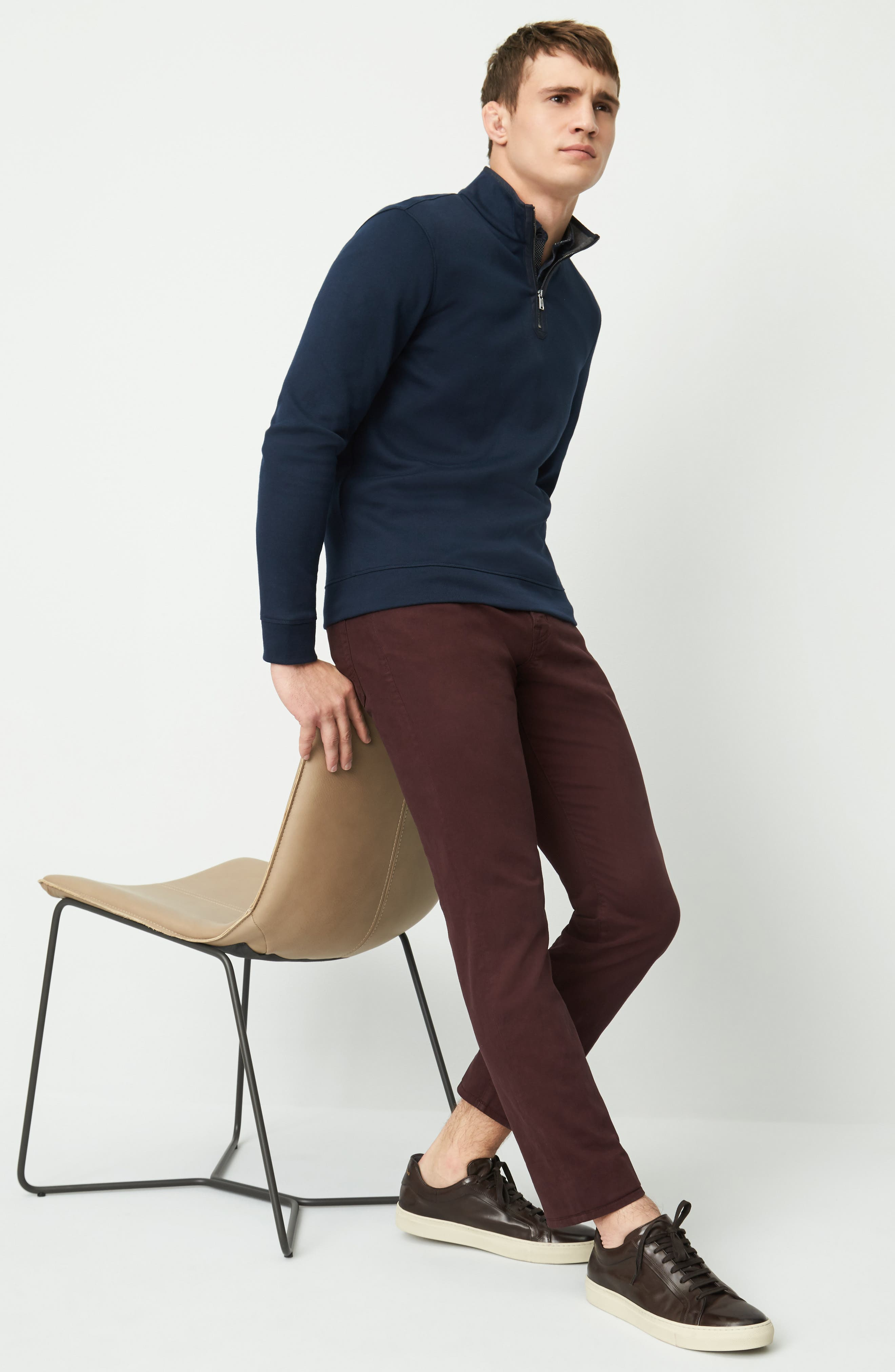 BOSS Pullover, Ted Baker London Shirt & AG Jeans Pants Outfit with Accessories