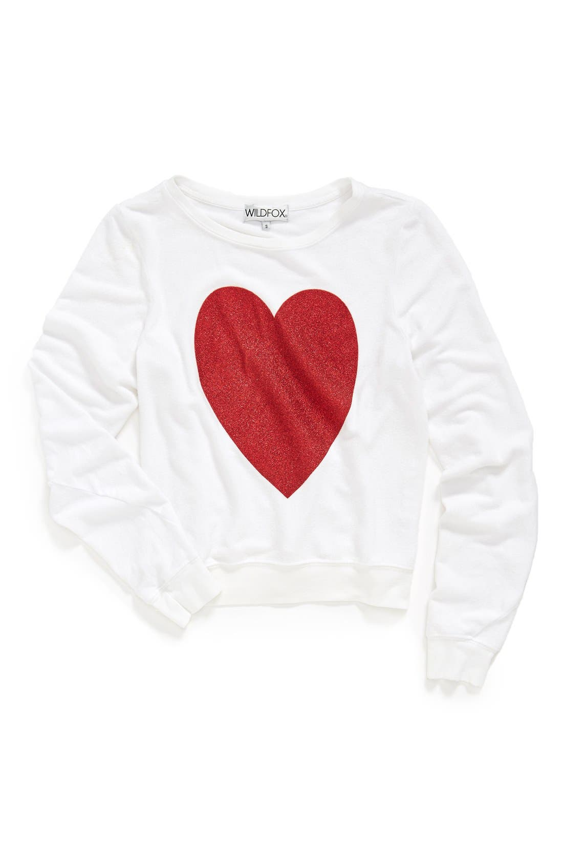 Alternate Image 4  - Wildfox 'Sparkle Heart' Sweatshirt