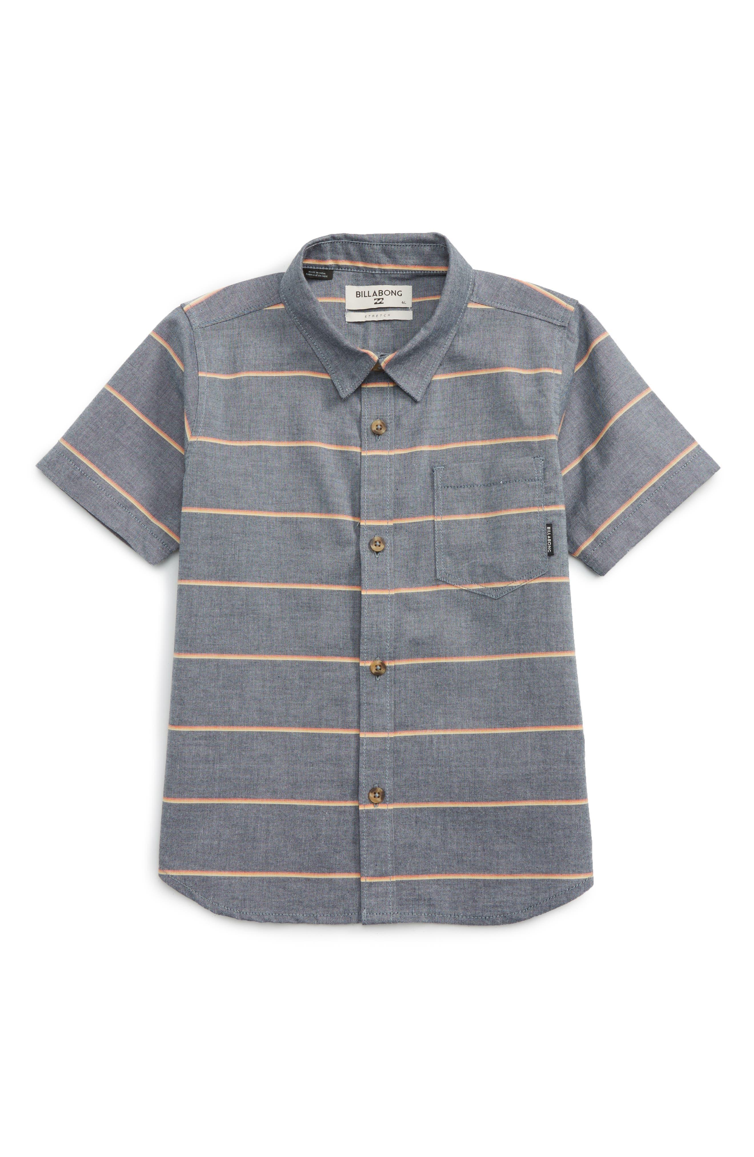 Bllabong Flat Lines Woven Shirt (Toddler Boys & Little Boys)