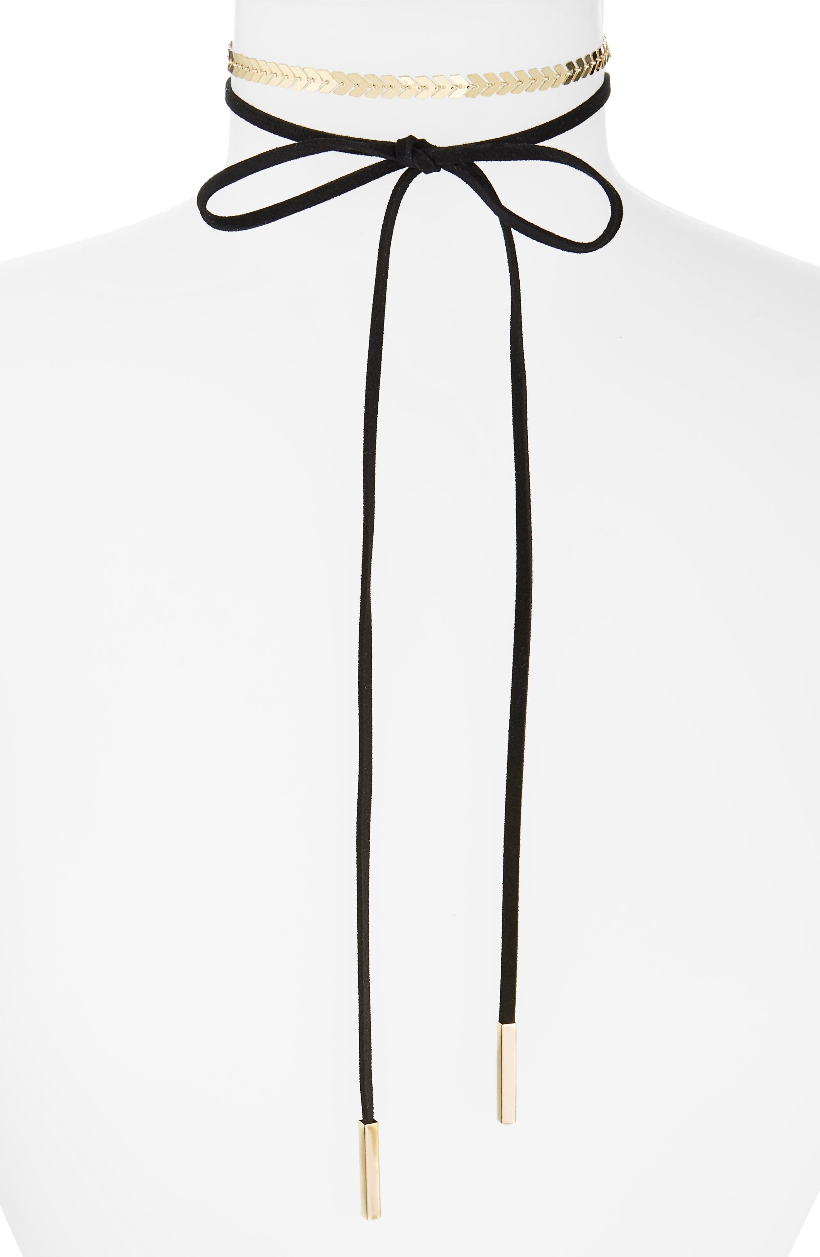 Loren Olivia Wrap Necklace & Choker