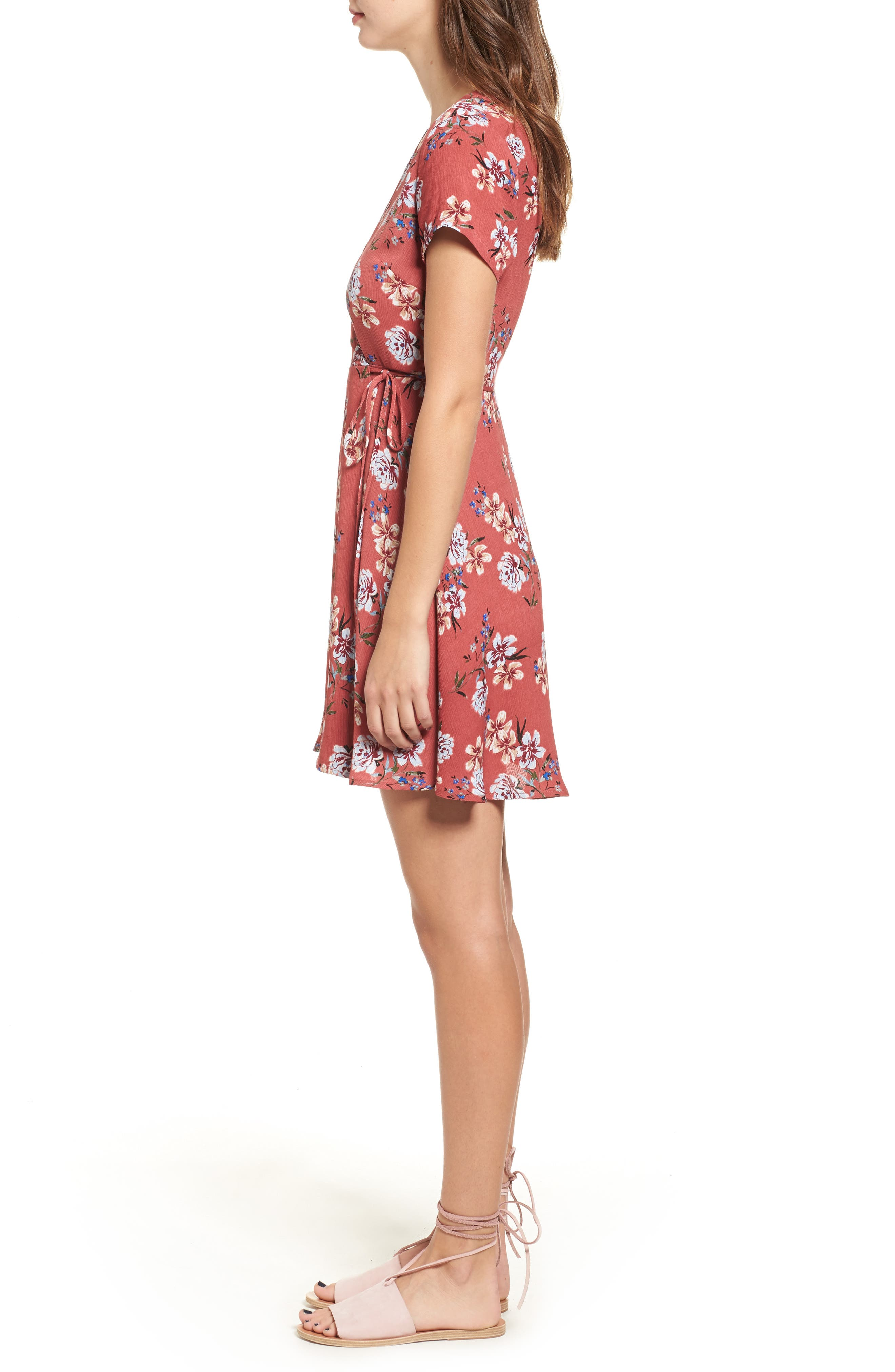 Alternate Image 3  - Lush Olivia Wrap Dress