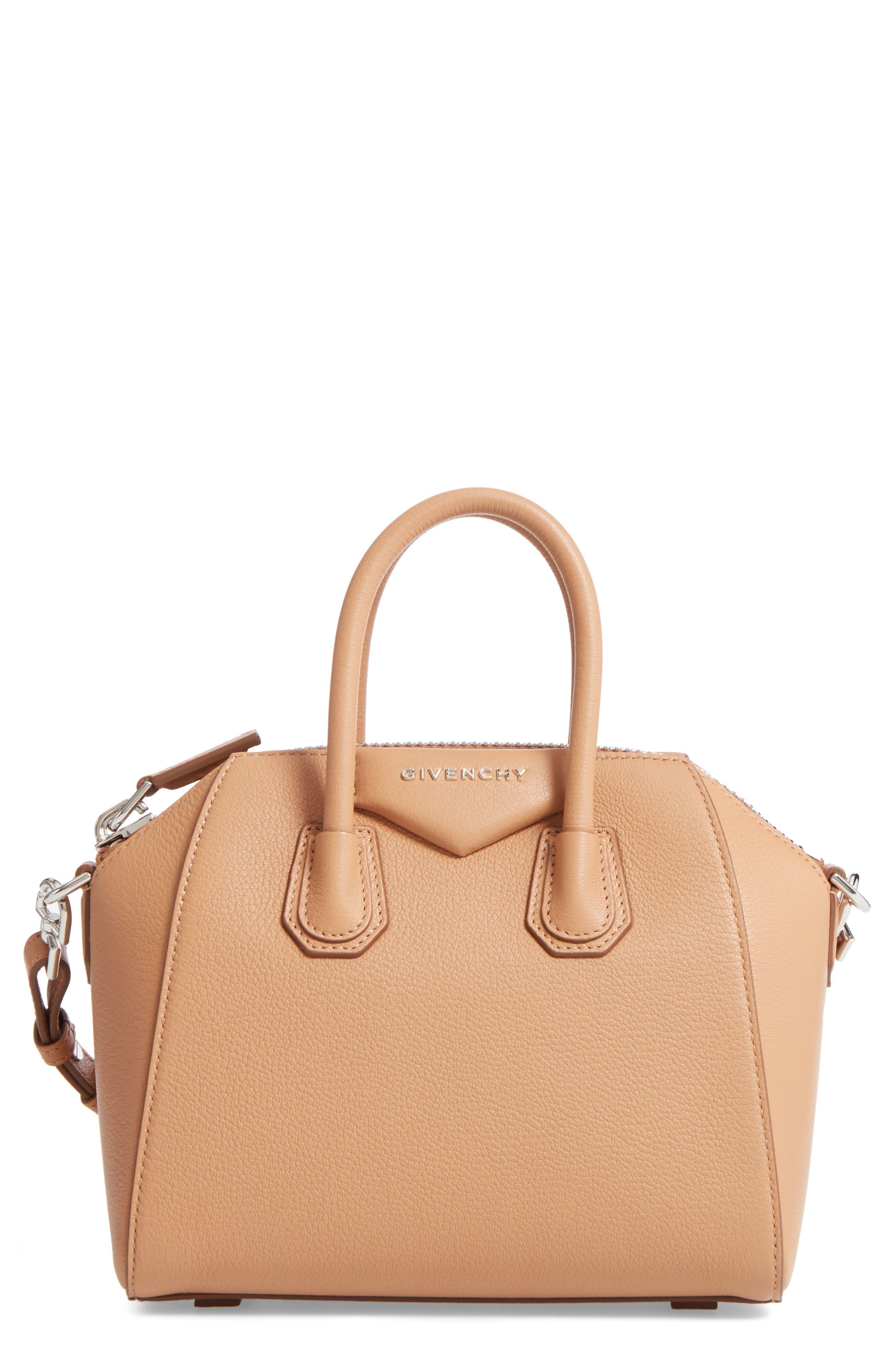 Main Image - Givenchy 'Mini Antigona' Sugar Leather Satchel
