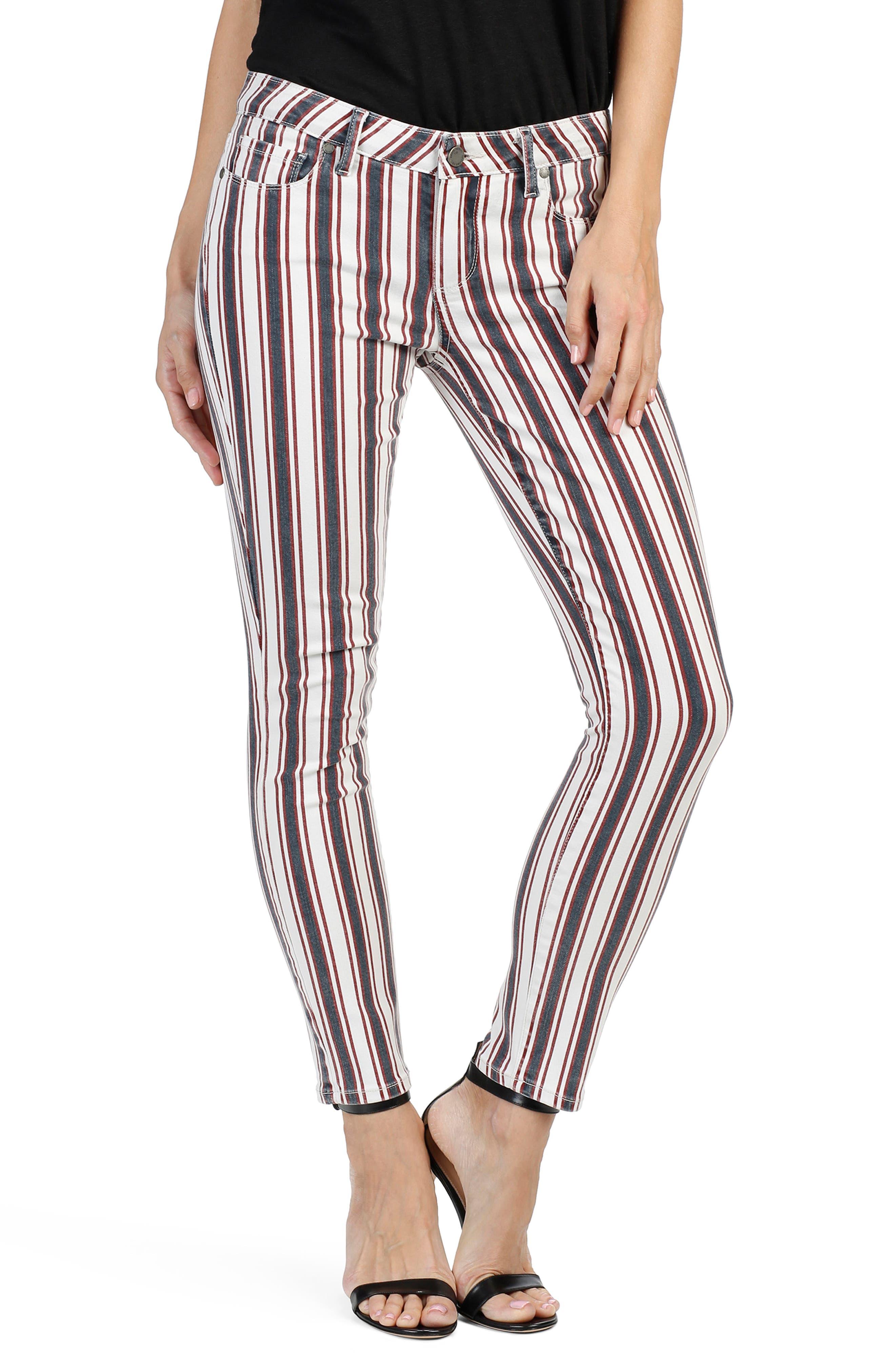 PAIGE Verdugo Ankle Skinny Jeans (Emerson Stripe)