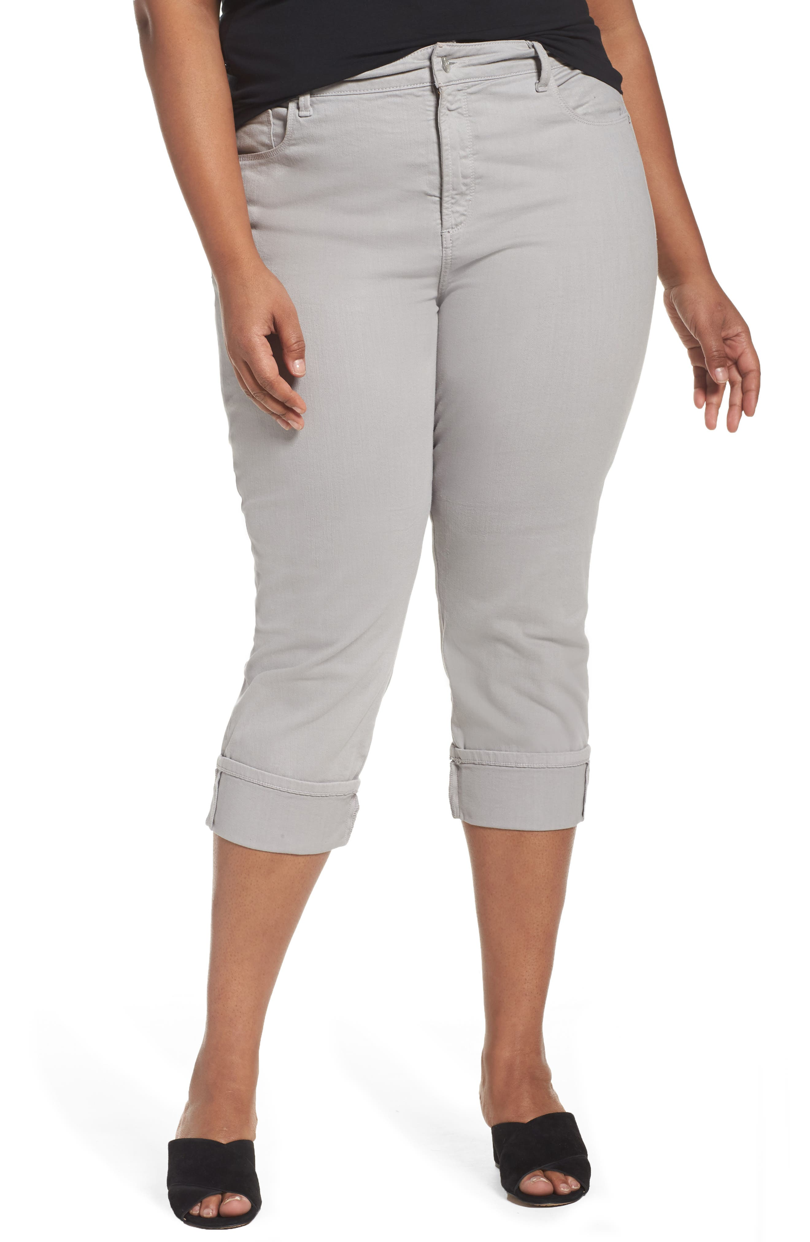NYDJ Dayla Colored Wide Cuff Capri Jeans (Plus Size)