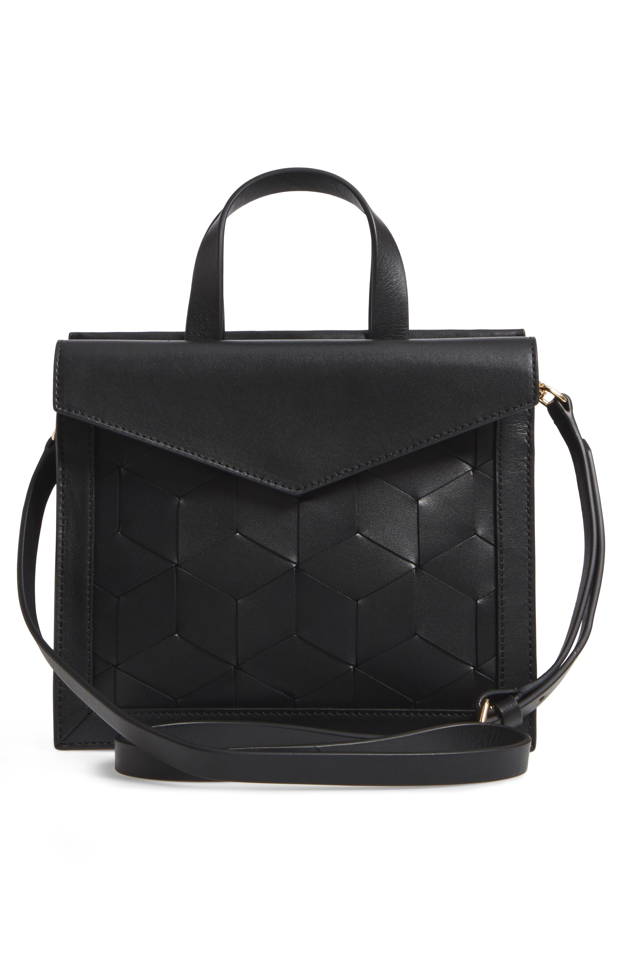 WELDEN Small Voyager Leather Convertible Satchel