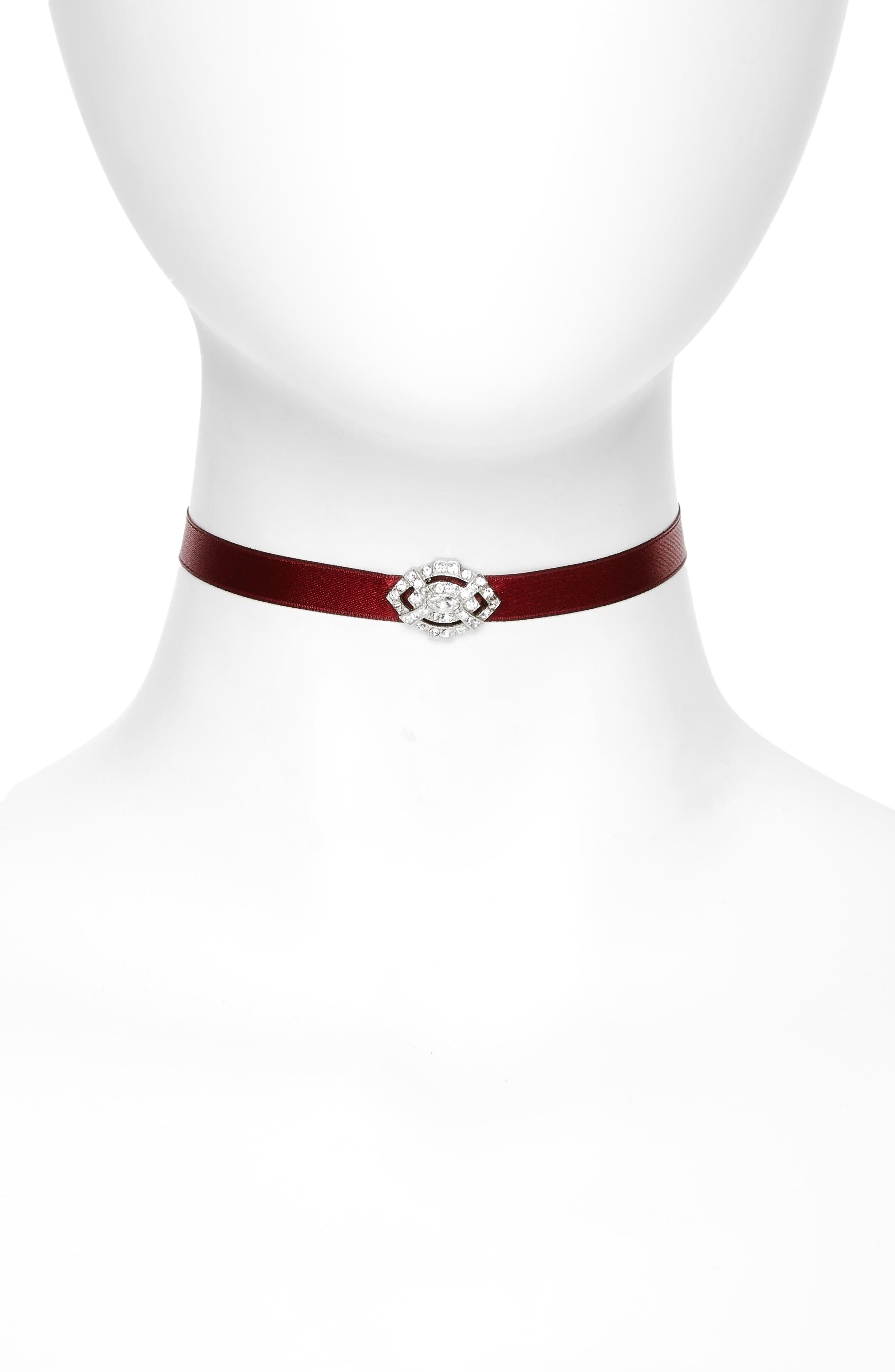 Ben-Amun Satin Choker Necklace