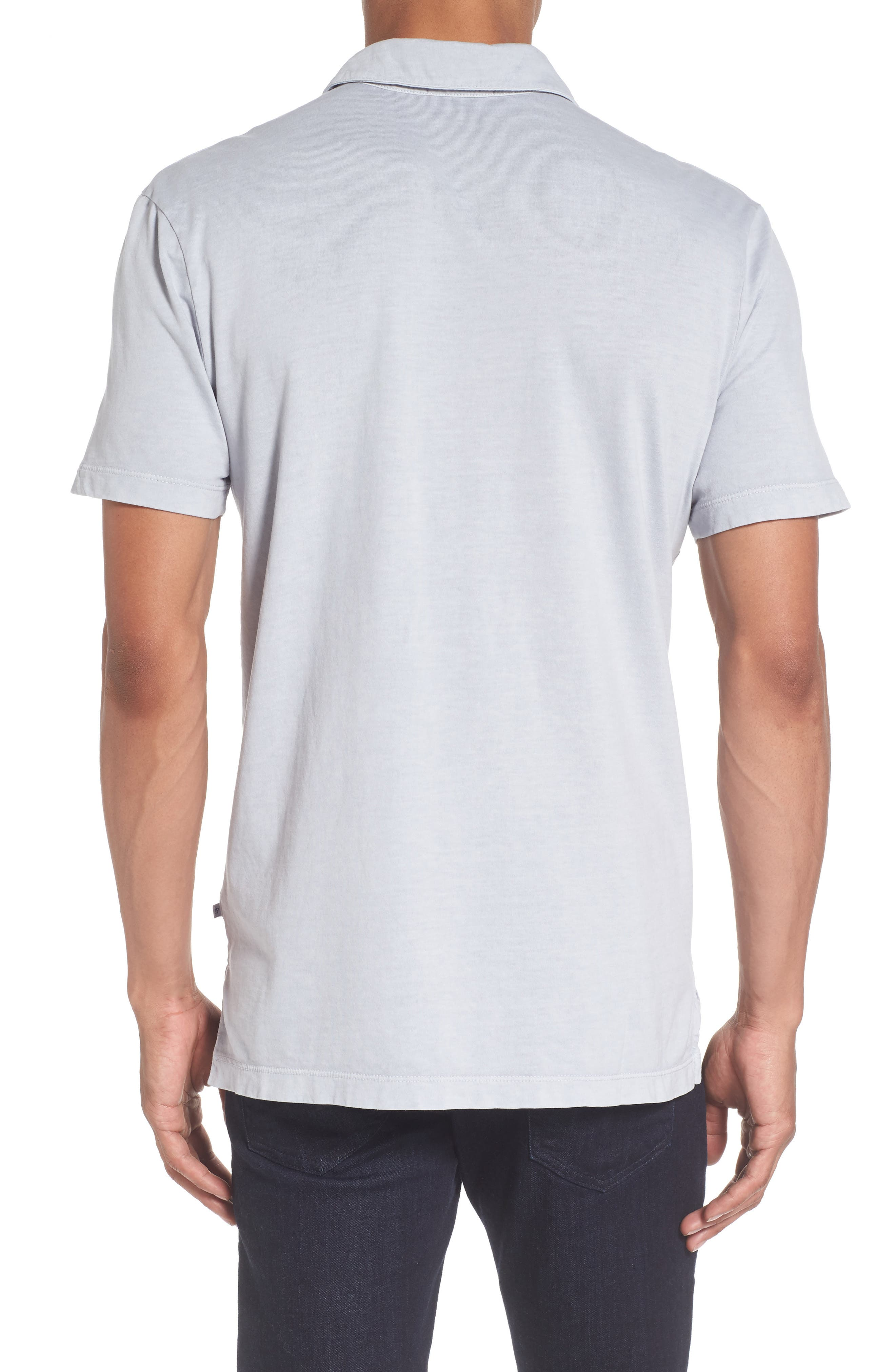 Alternate Image 2  - James Perse Slim Fit Sueded Jersey Polo