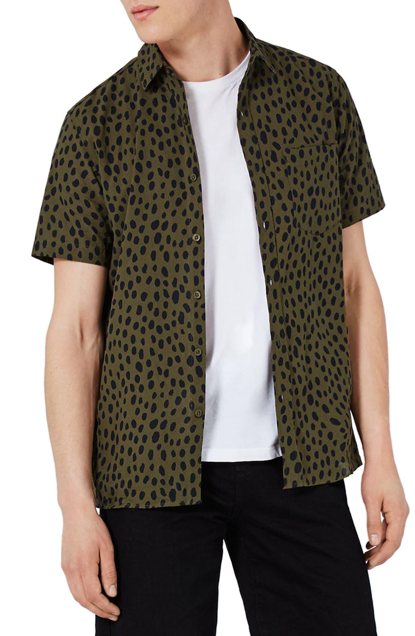 Topman Spot Print Shirt