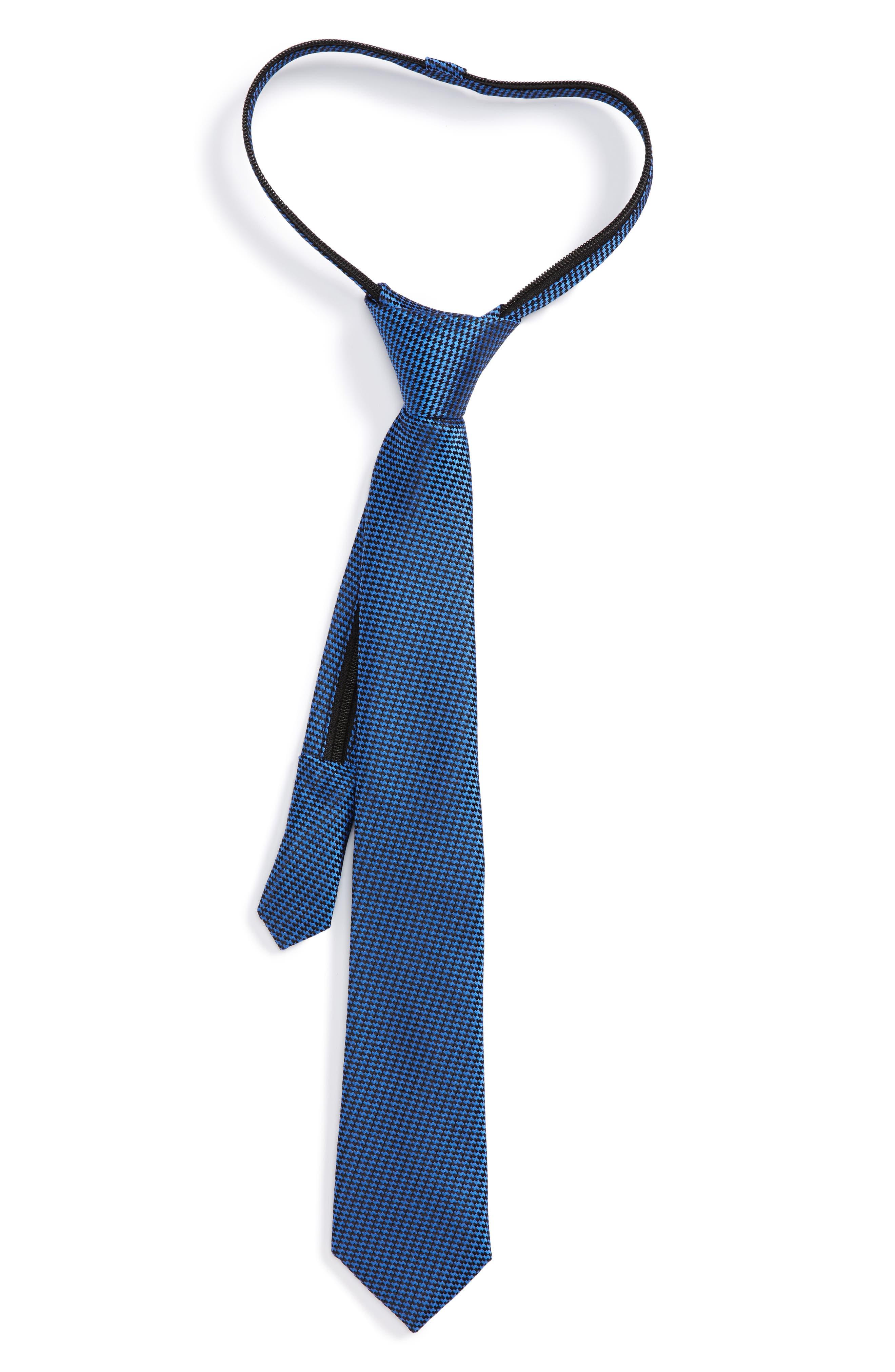 Nordstrom Textured Silk Zipper Tie (Big Boys)