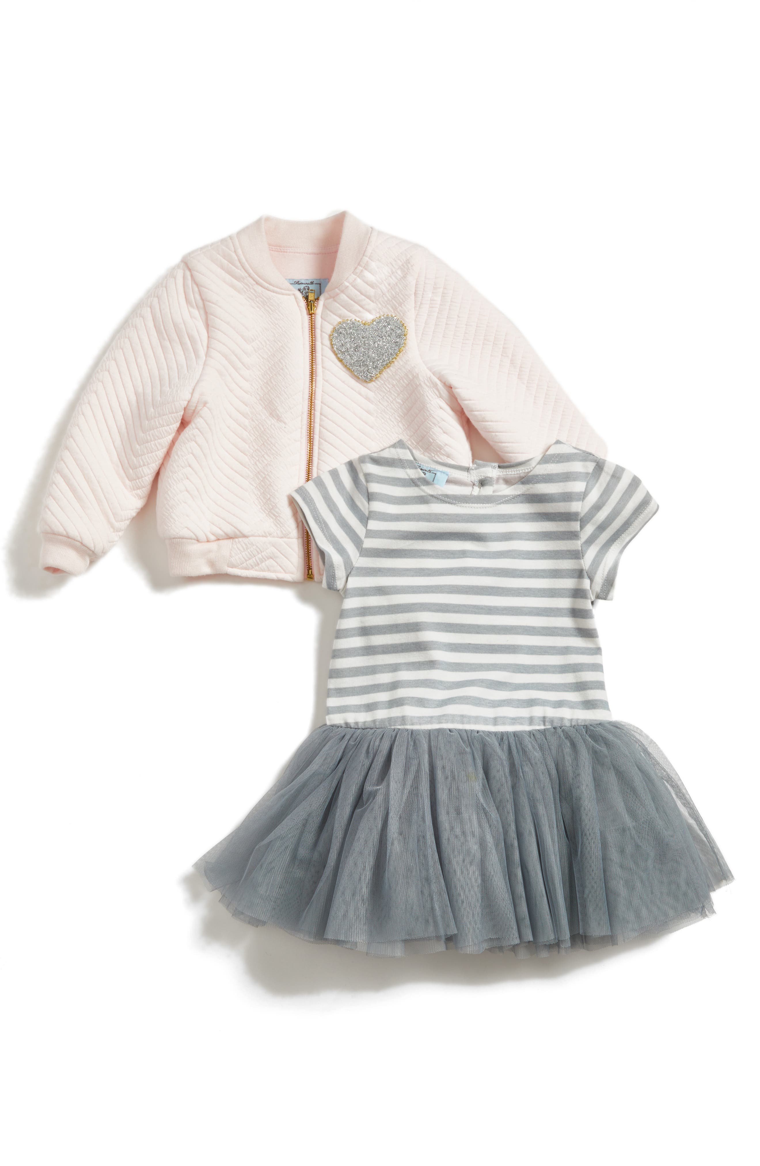 Pippa & Julie Bomber Jacket & Tulle Dress Set (Toddler Girls & Little Girls)