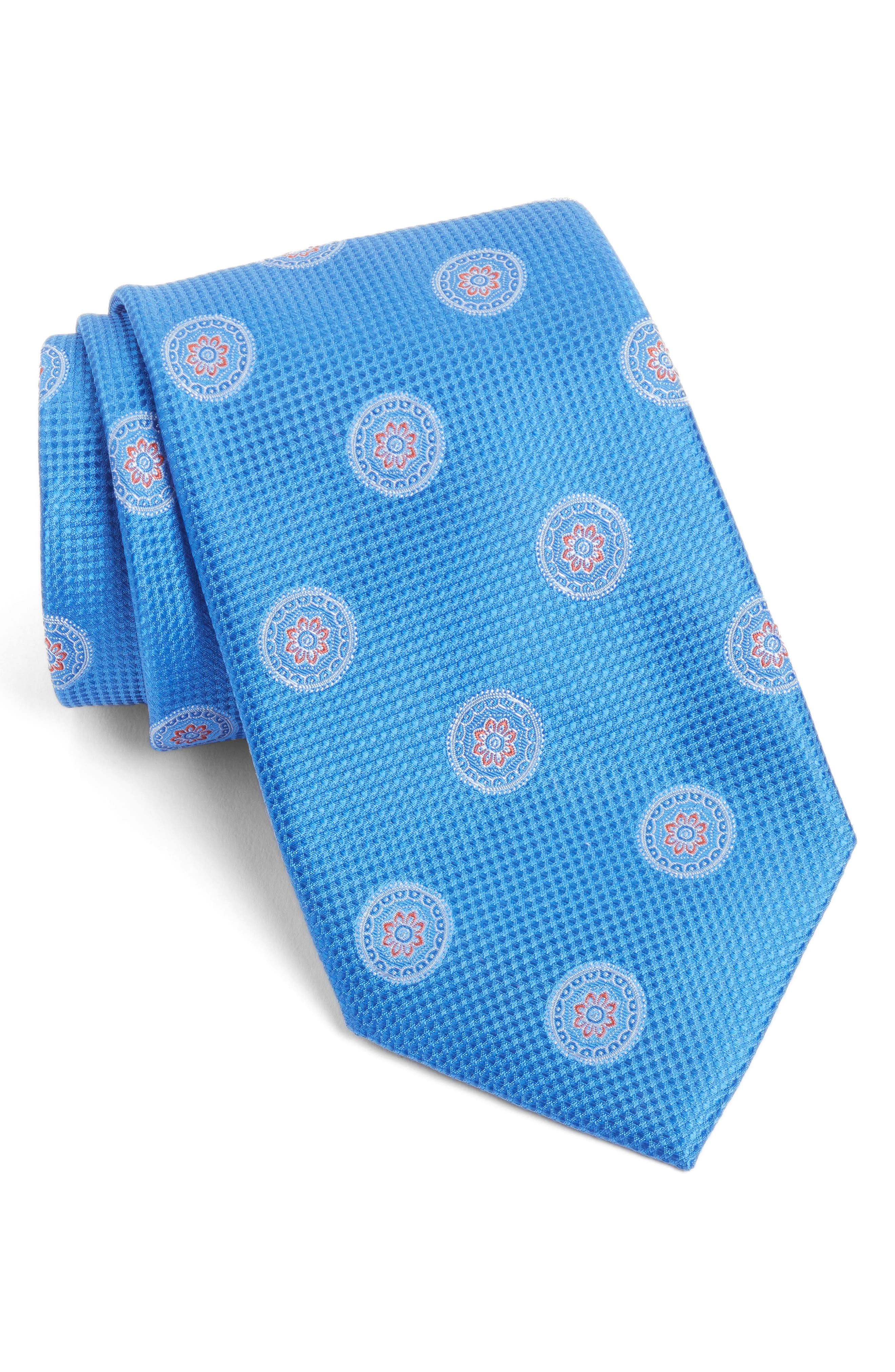 Nordstrom Men's Shop Circular Medallion Silk Tie (X-Long)