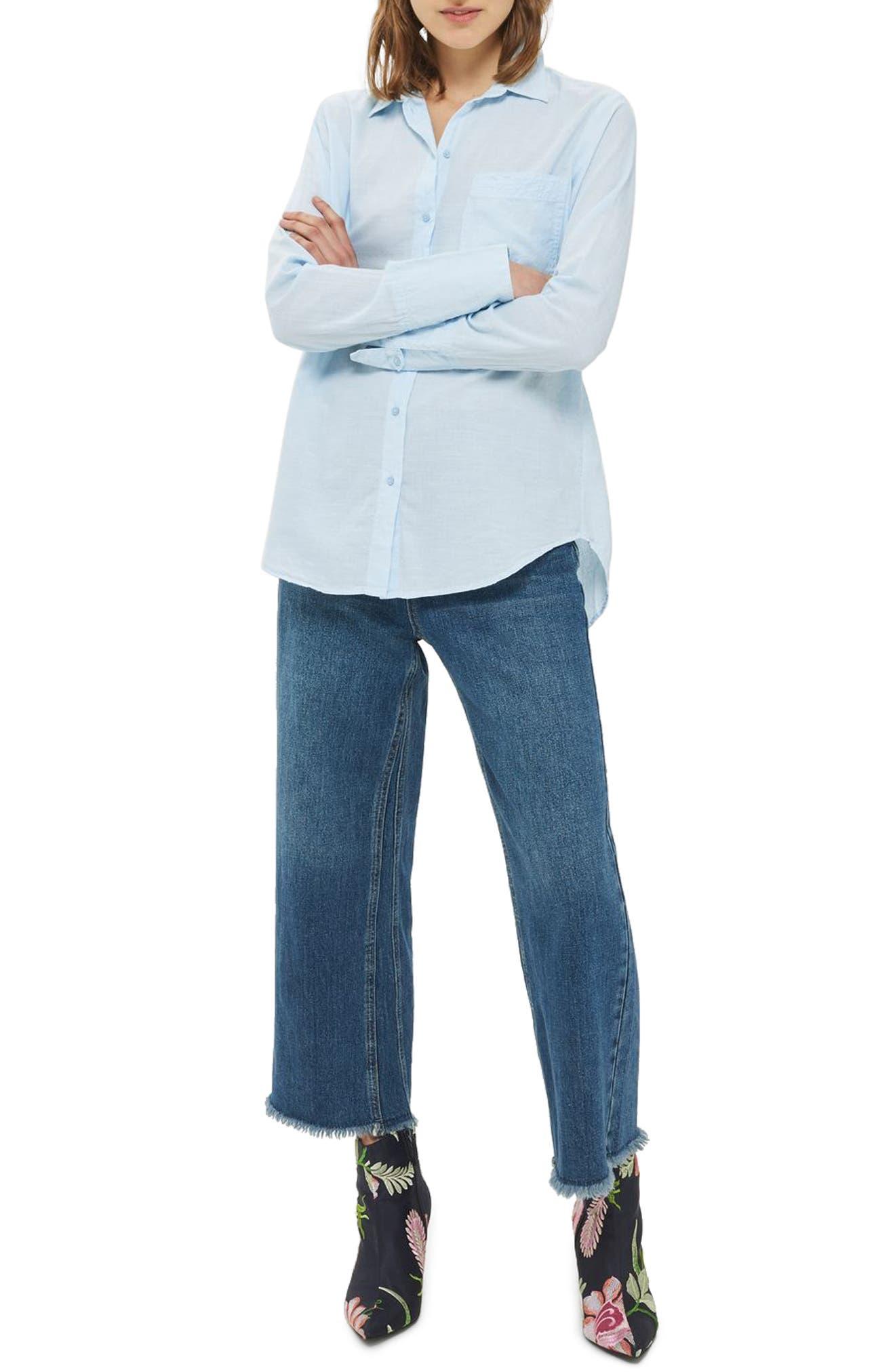 Topshop Zayn Split Back Shirt